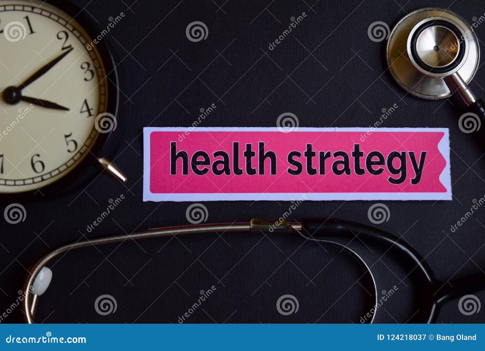 在印刷品纸的健康战略与医疗保健概念启发 闹钟,黑听诊器