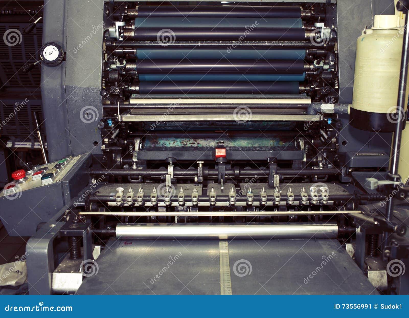 在印刷术的老打印机