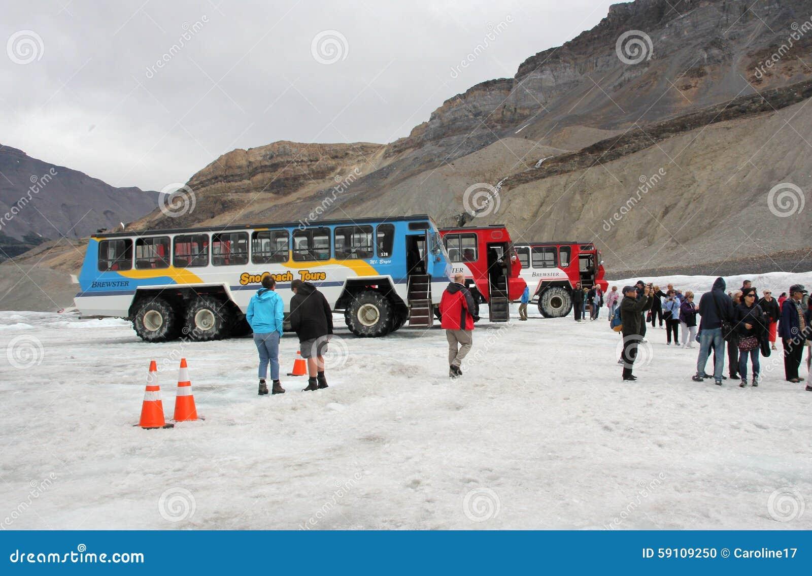 在哥伦比亚冰原的雪教练
