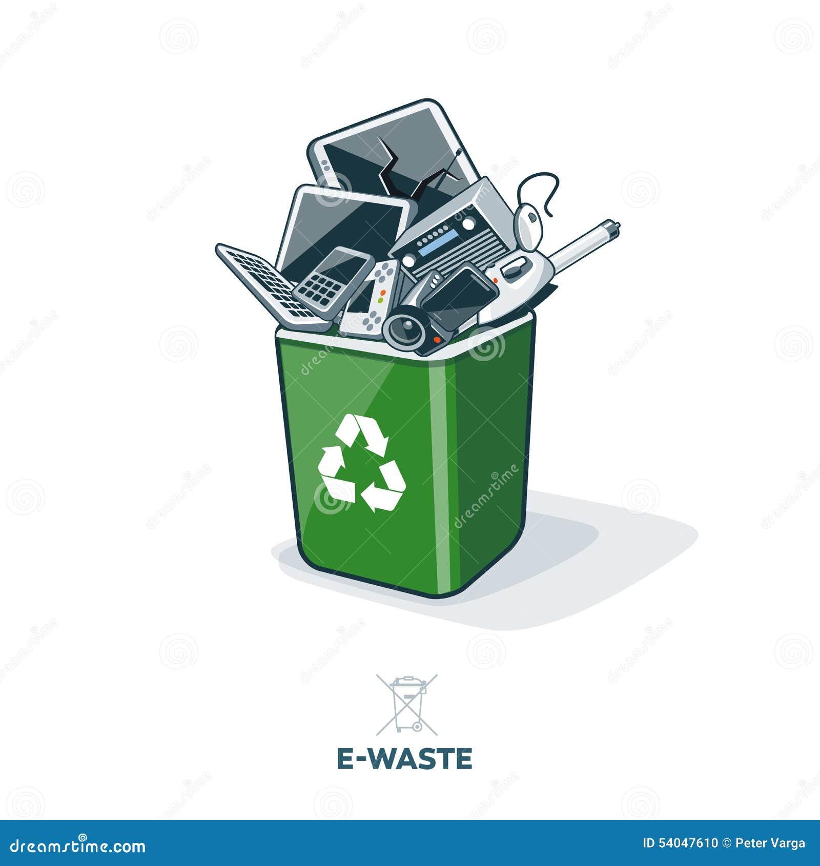 在回收站的E废物