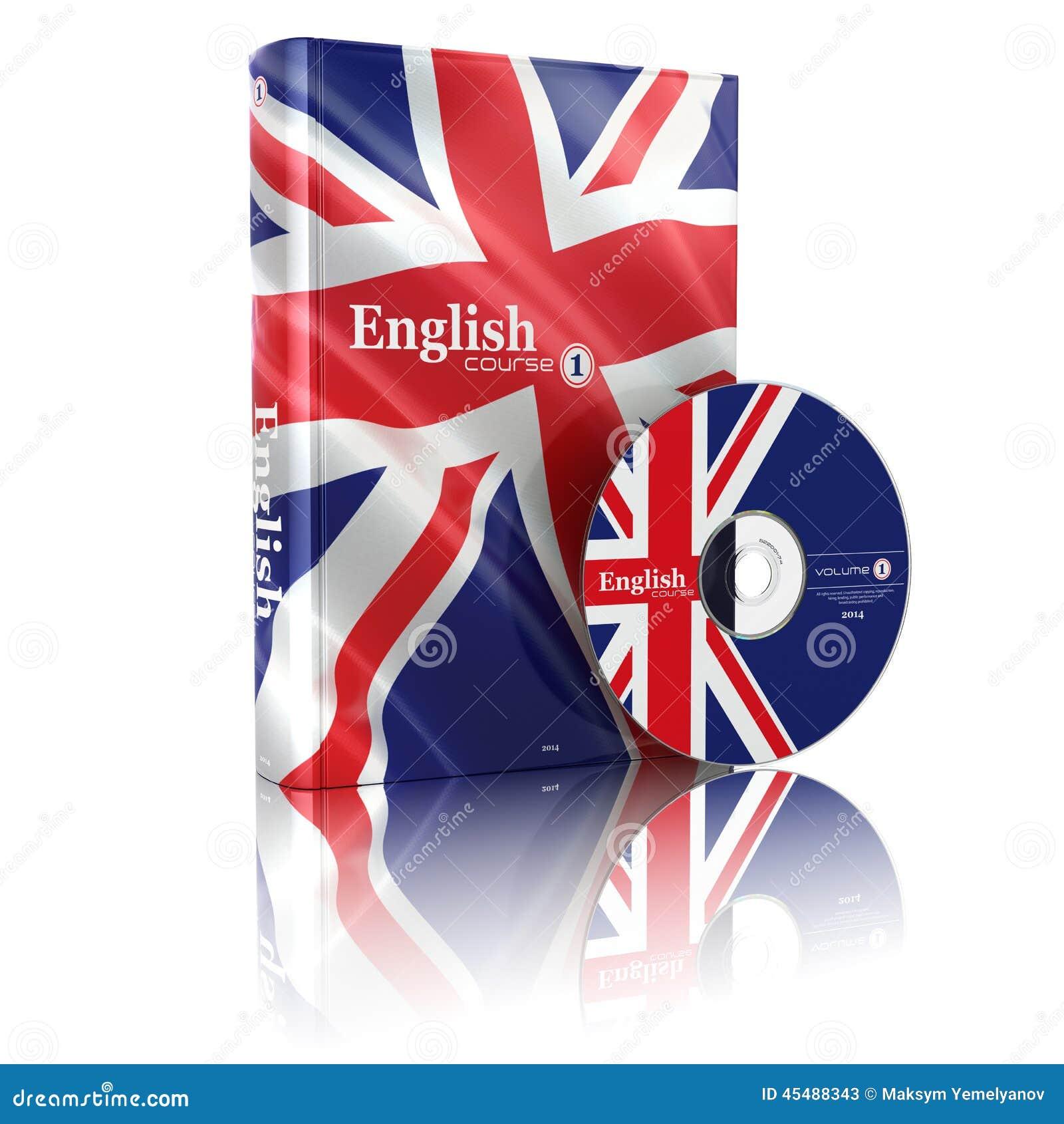 在国旗盖子和CD的英国书