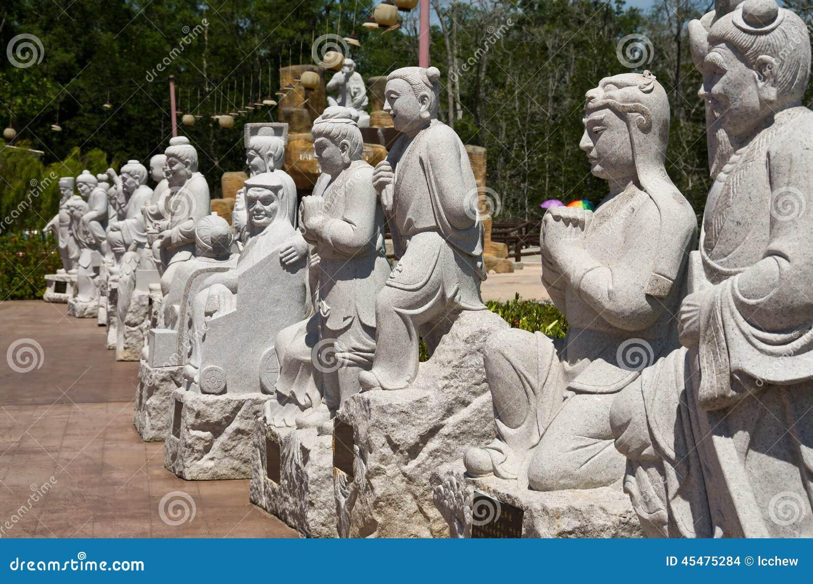 在图阿Pek孔寺庙, Sitiawan,马来西亚的雕象