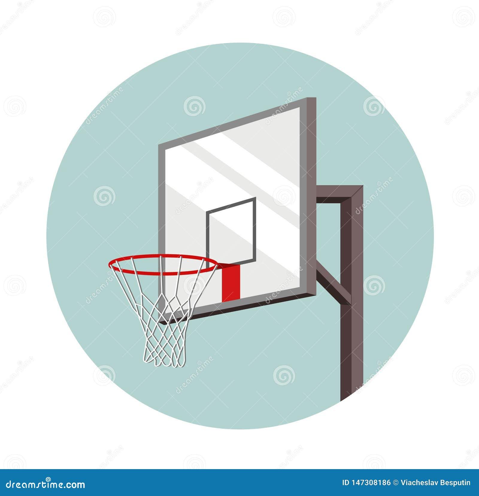 在圈子题写的篮球篮子 体育的设备 ??