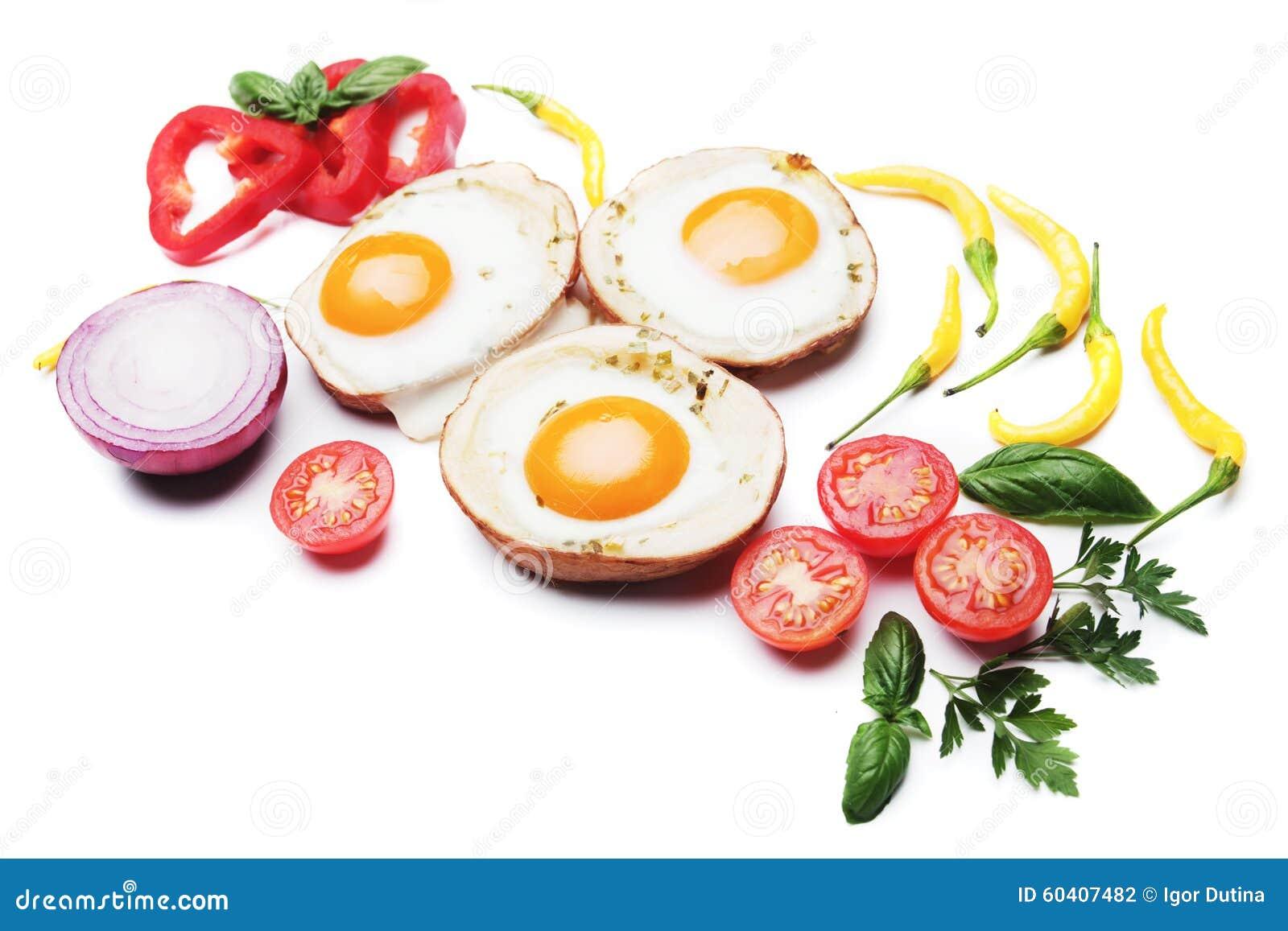 在土豆壳的煎蛋