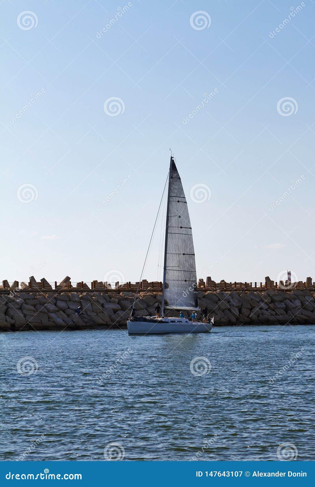 在地中海的游艇