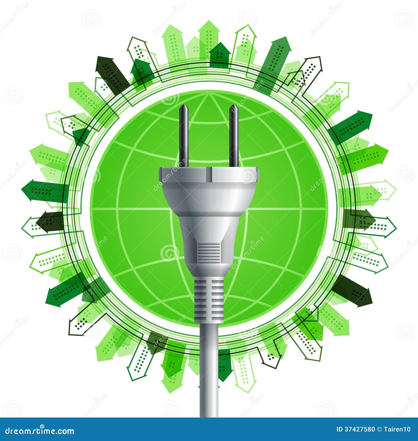 在地球的白色电插座