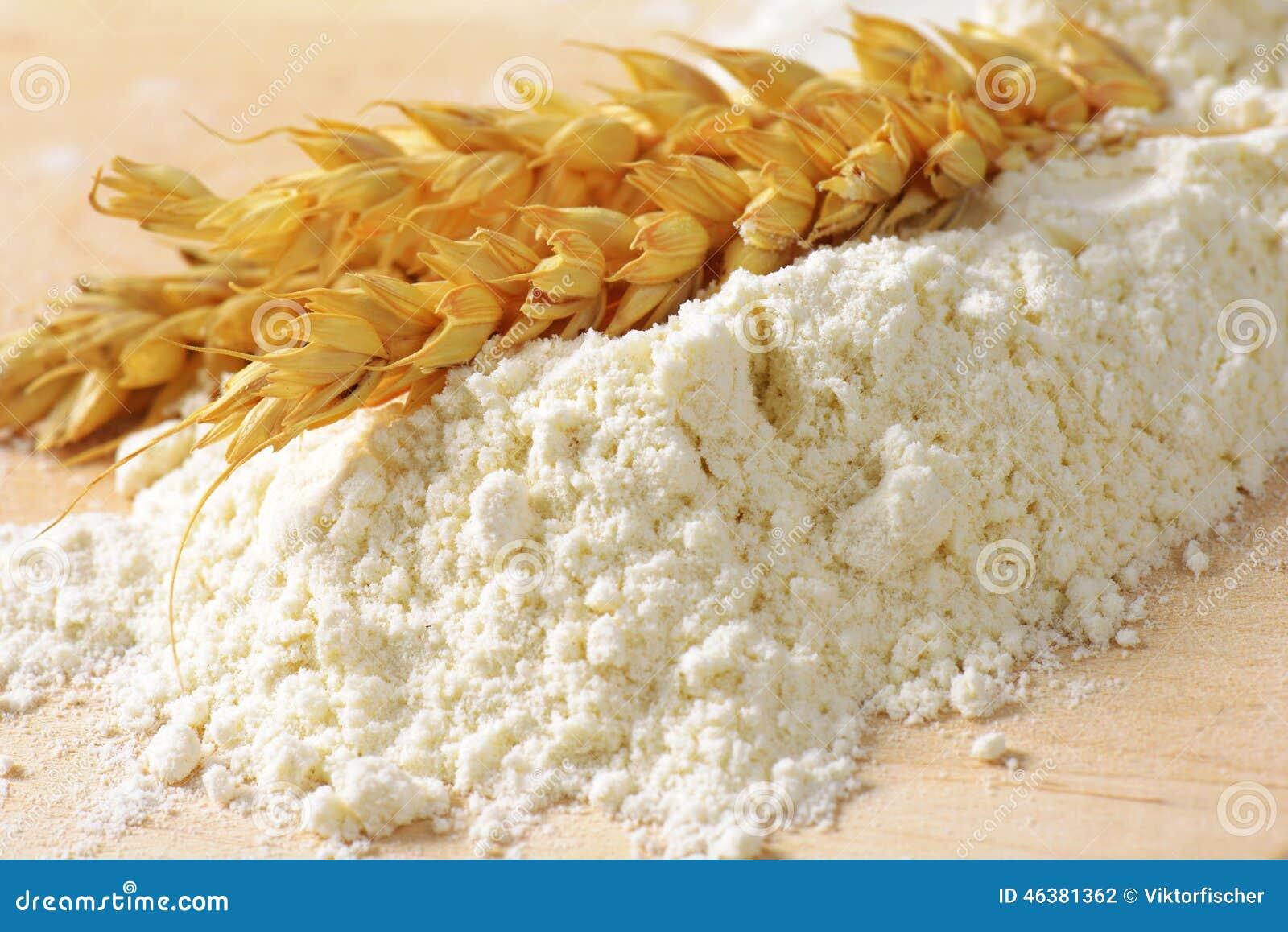 在堆的麦子耳朵面粉
