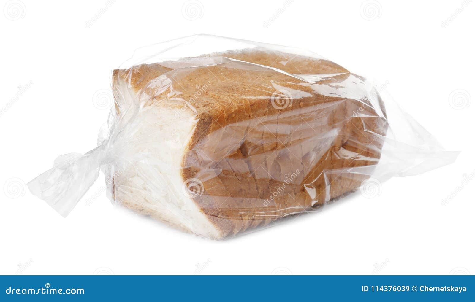 在塑料袋的切的多士面包