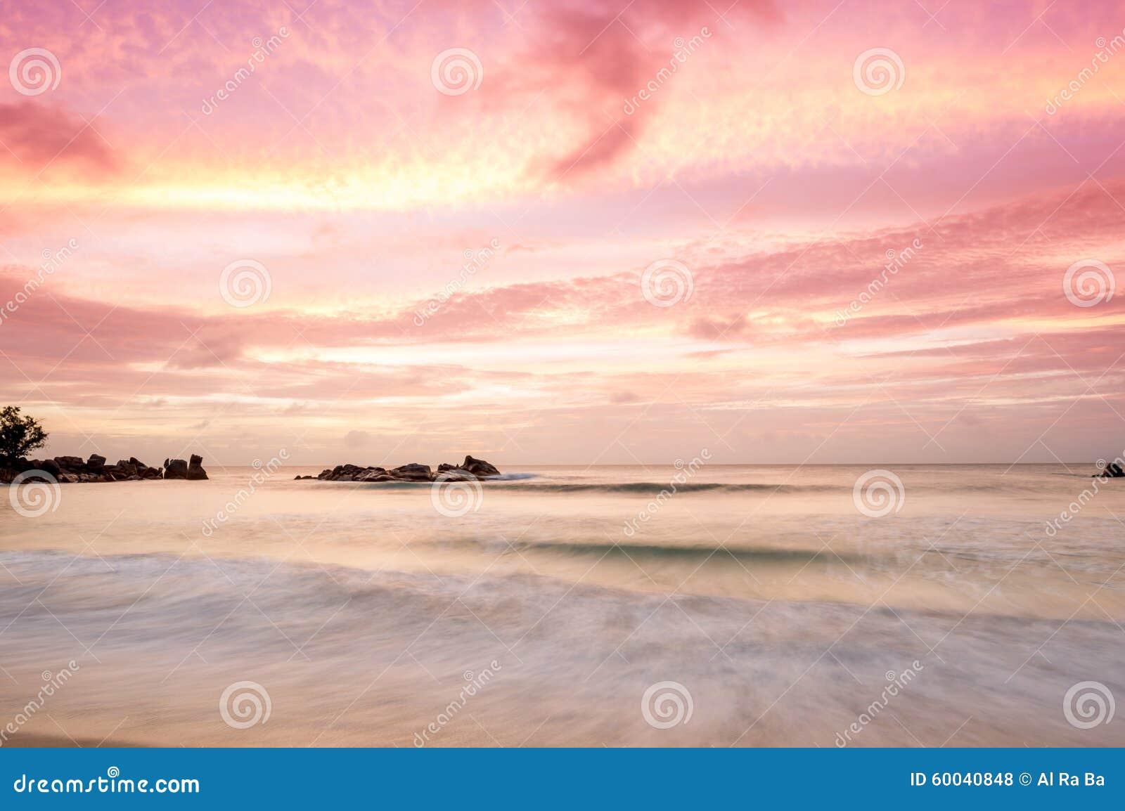 在塞舌尔群岛的日落
