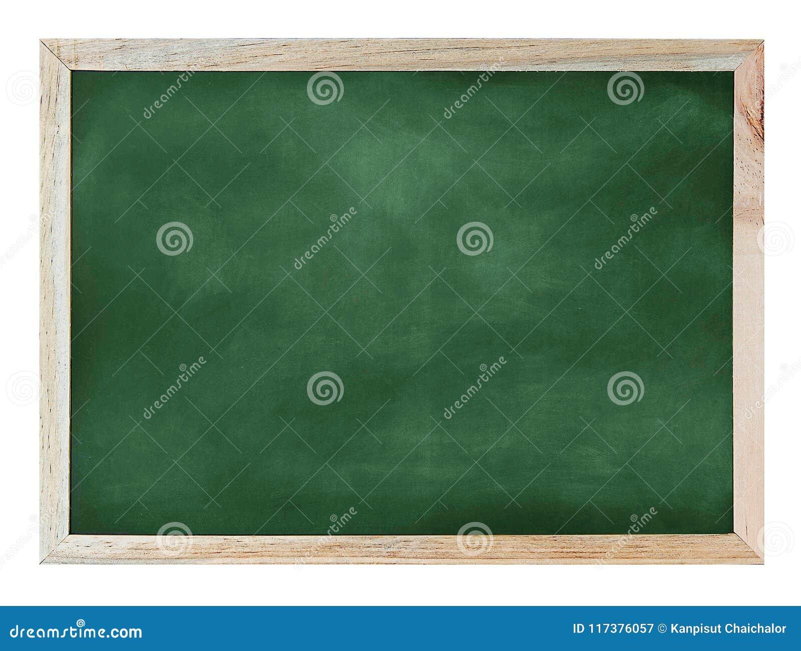 在墙壁上的空的绿色黑板纹理吊