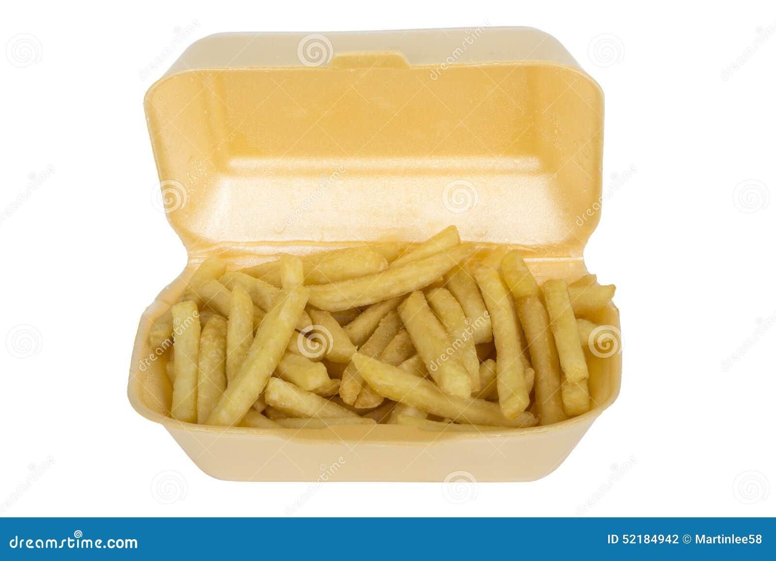 在外带的箱子纸盒供食的芯片油炸物