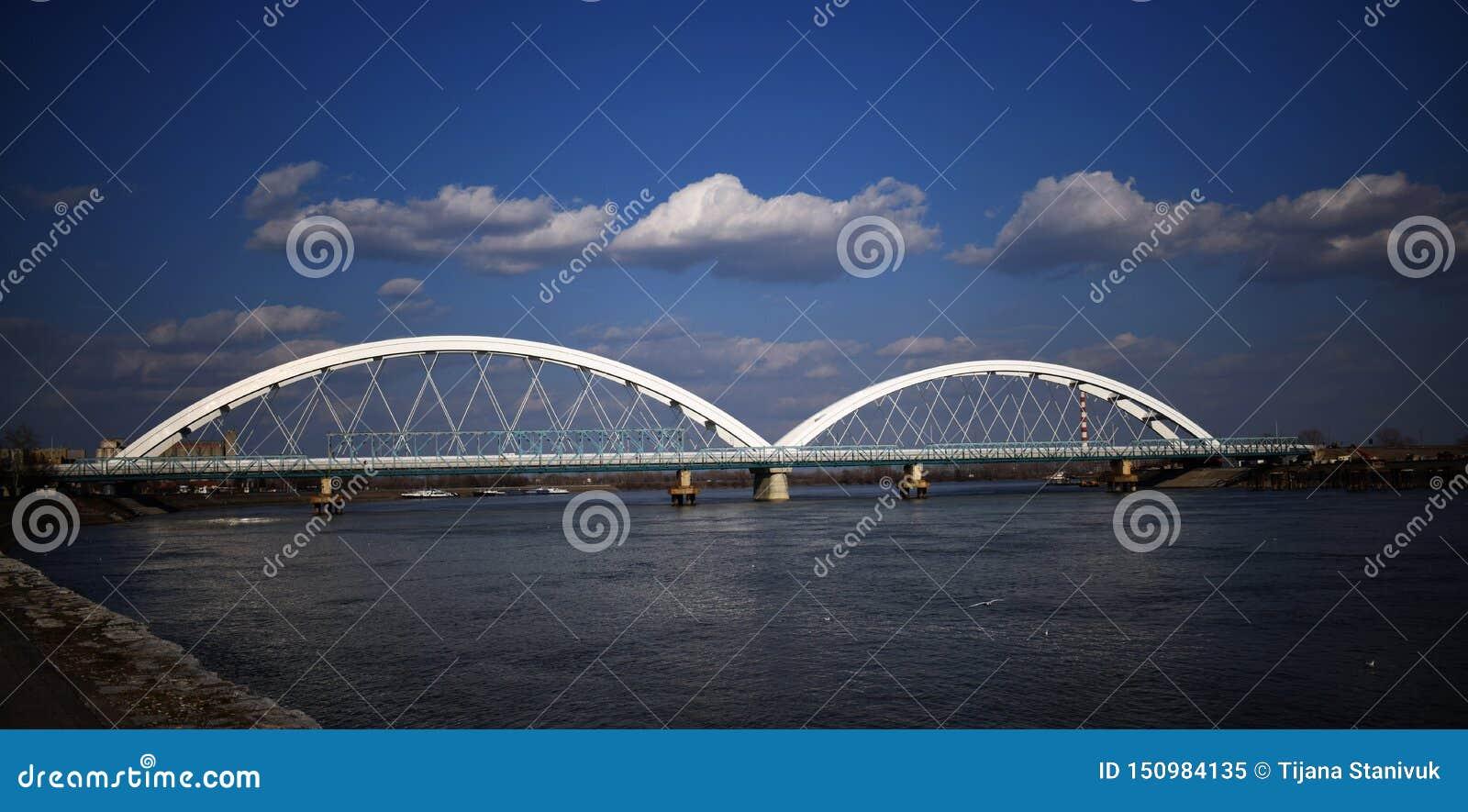在多瑙河,诺维萨德的桥梁
