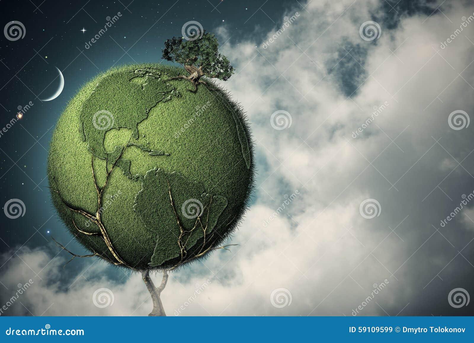 在夜空下 地球树