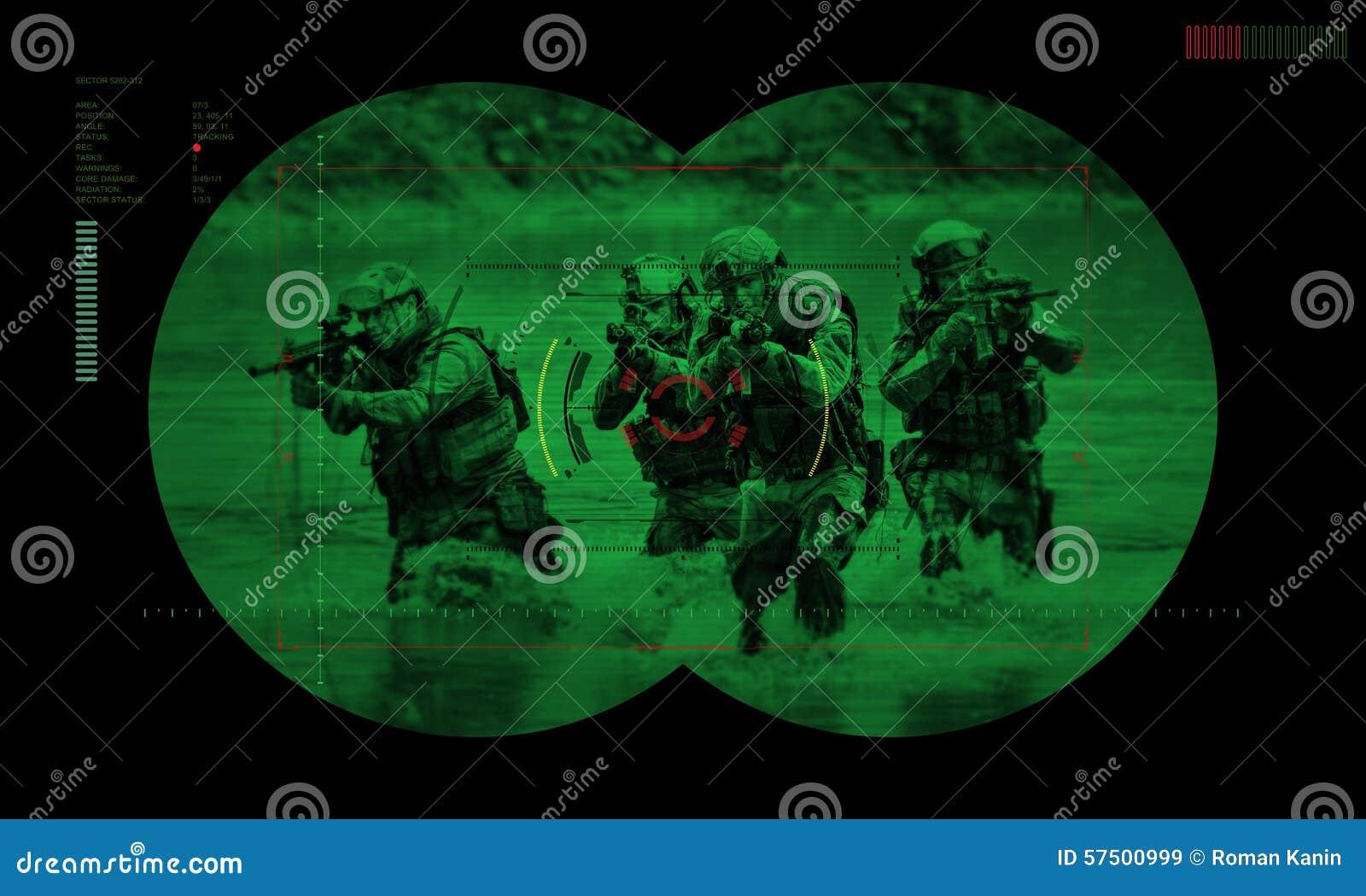 在夜间作战人质抢救期间的别动队员队 通过看法