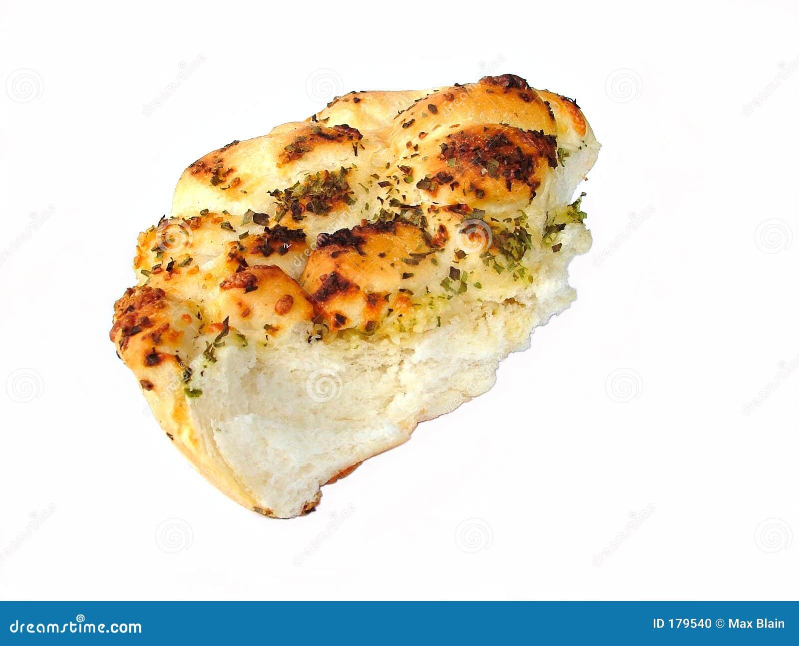 在大蒜上添面包
