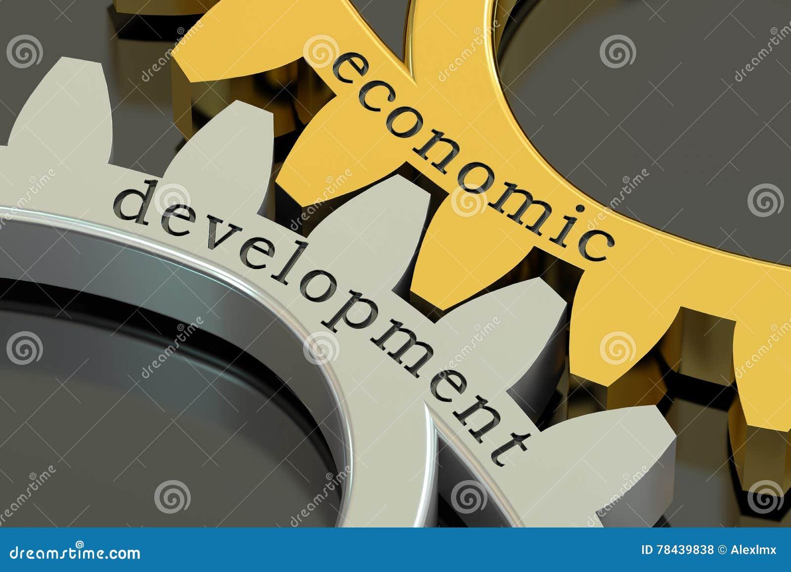 在大齿轮的经济发展概念, 3D翻译