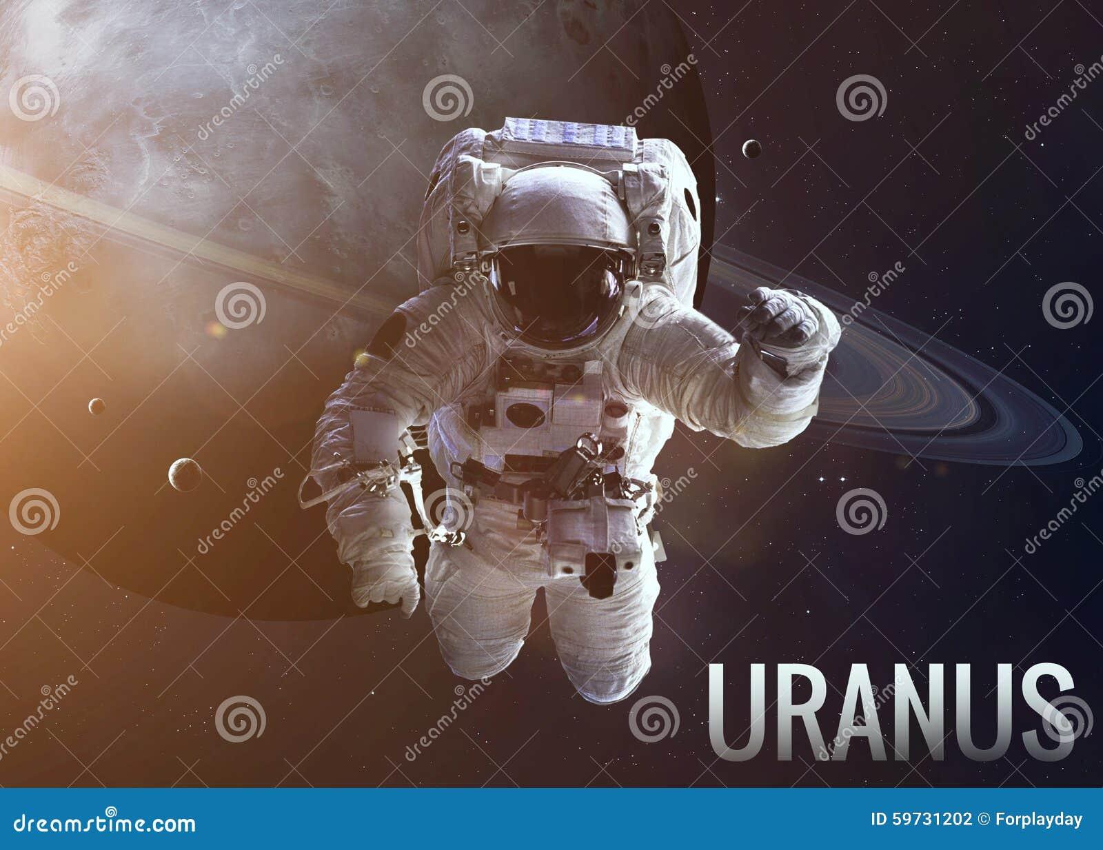 在天王星轨道的宇航员探索的空间