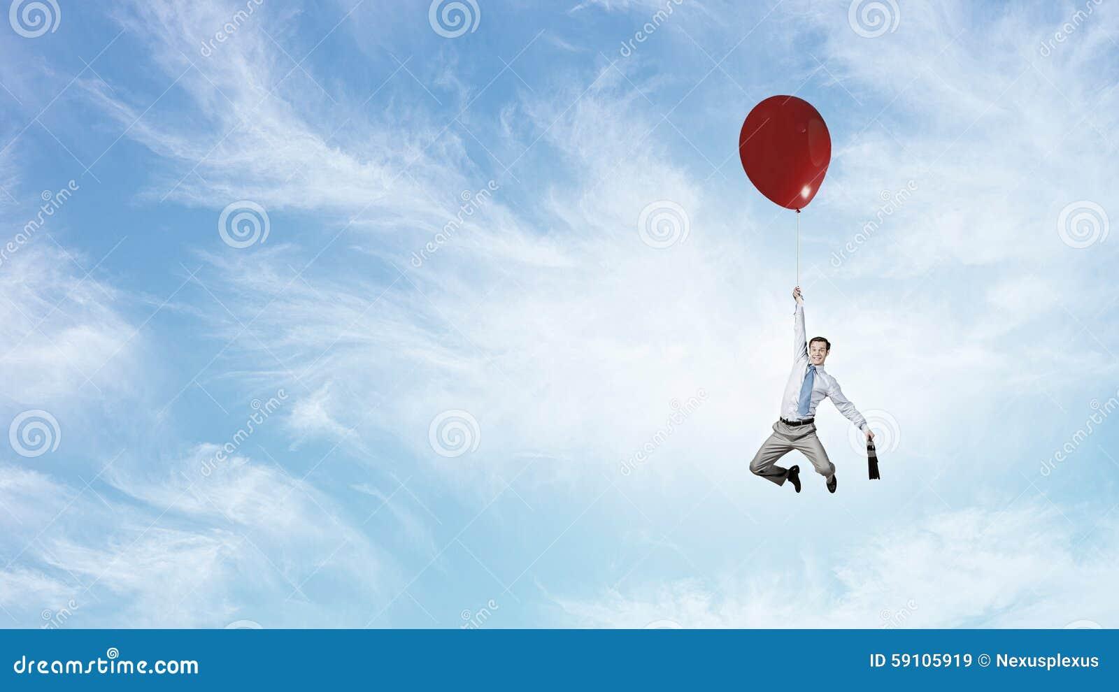 在天空的人飞行
