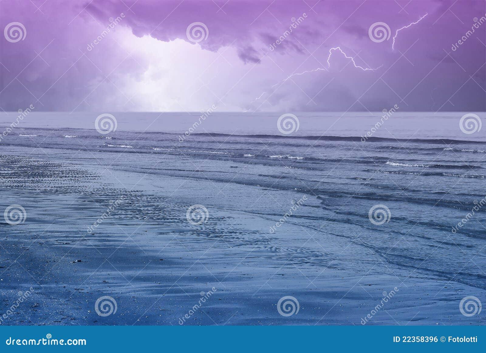 在天空的惊人的海洋