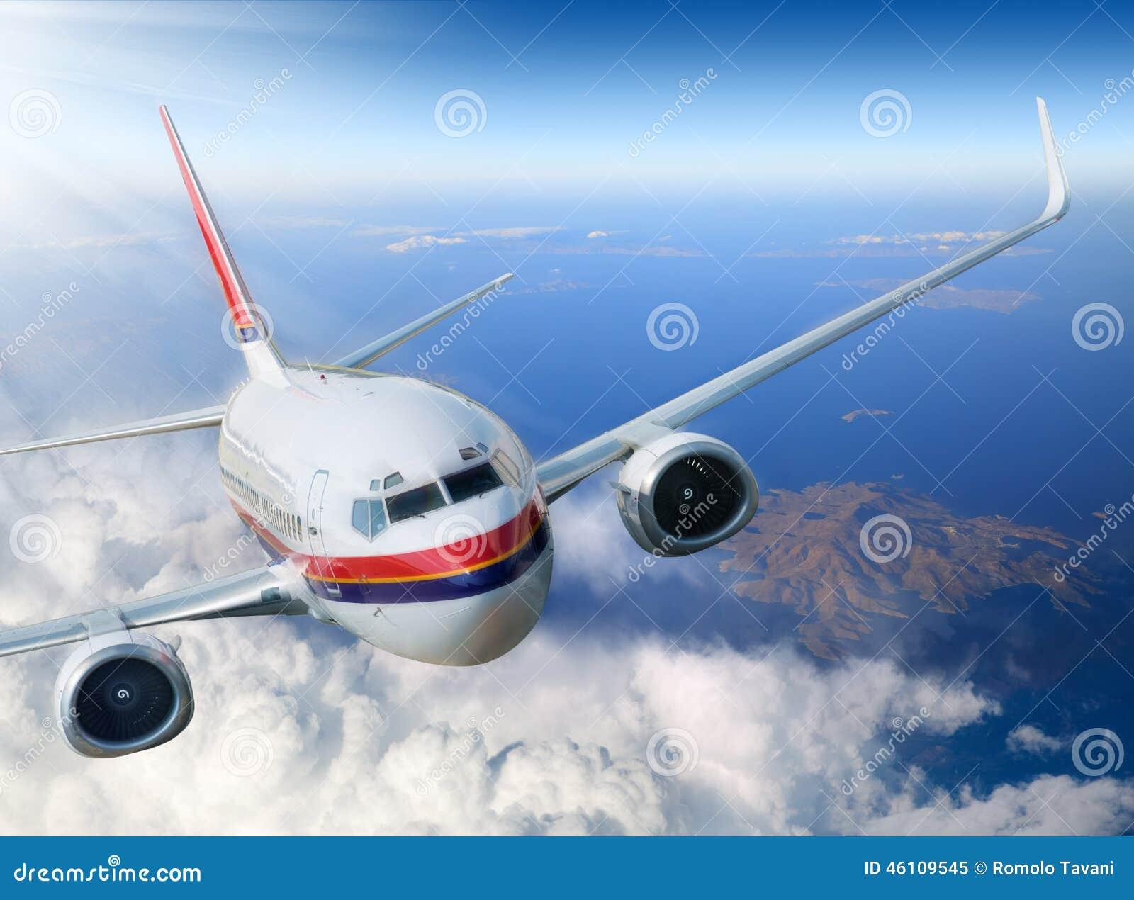 在天空的飞机