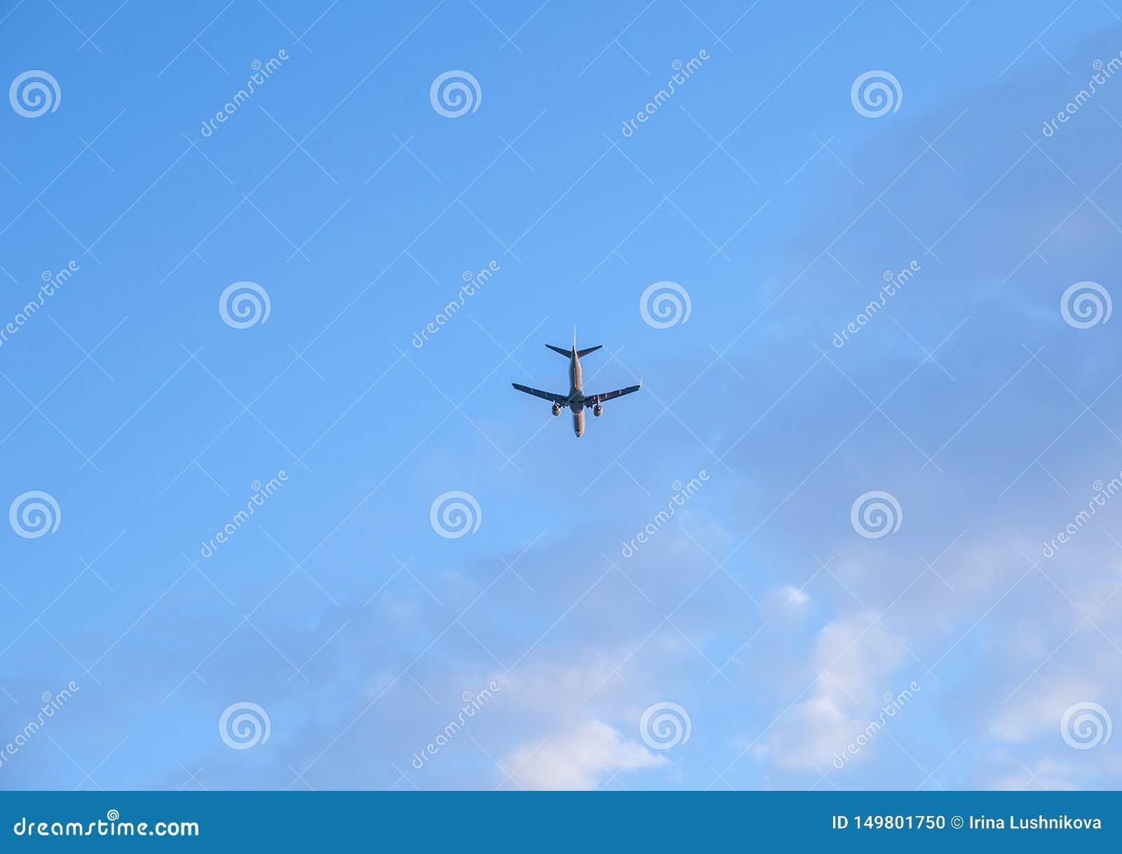 在天空蔚蓝的飞机