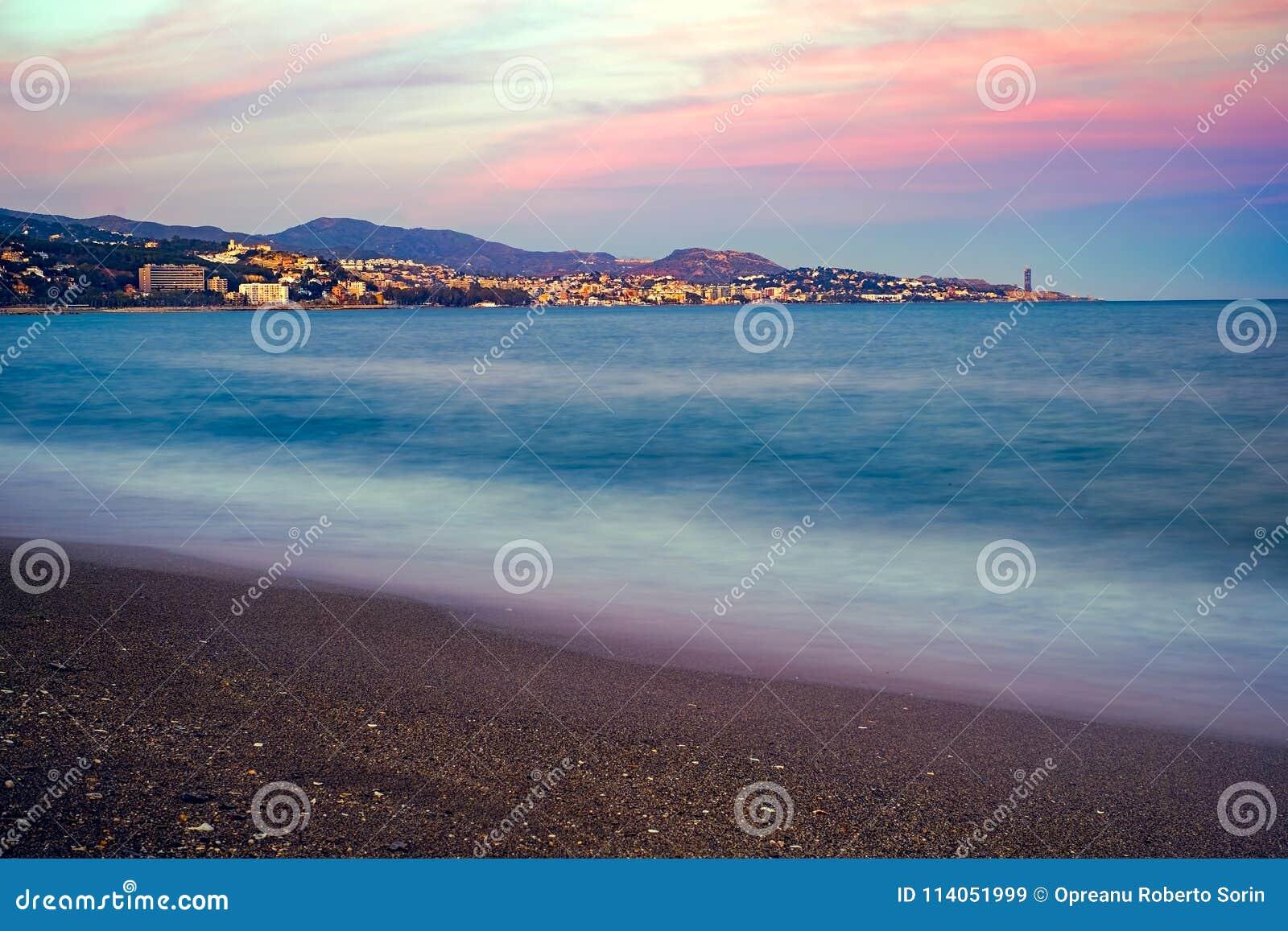 在太阳海岸的日落