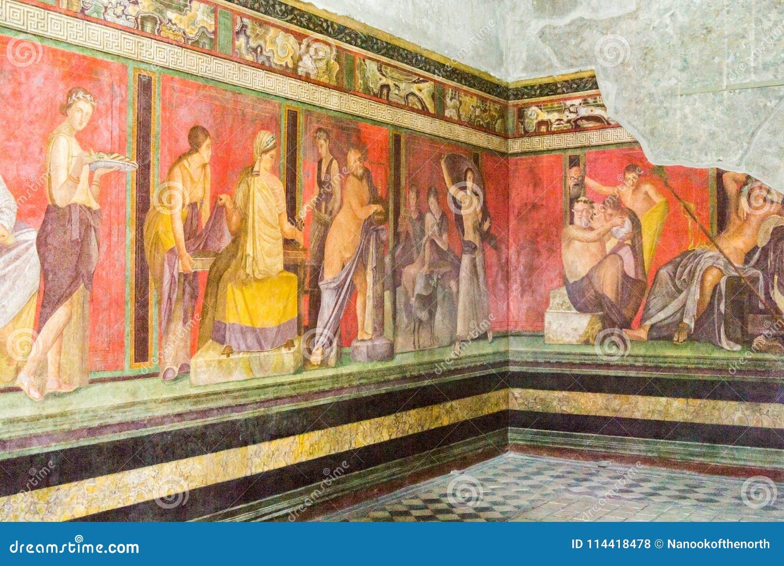 在奥秘的别墅,庞贝城的壁画