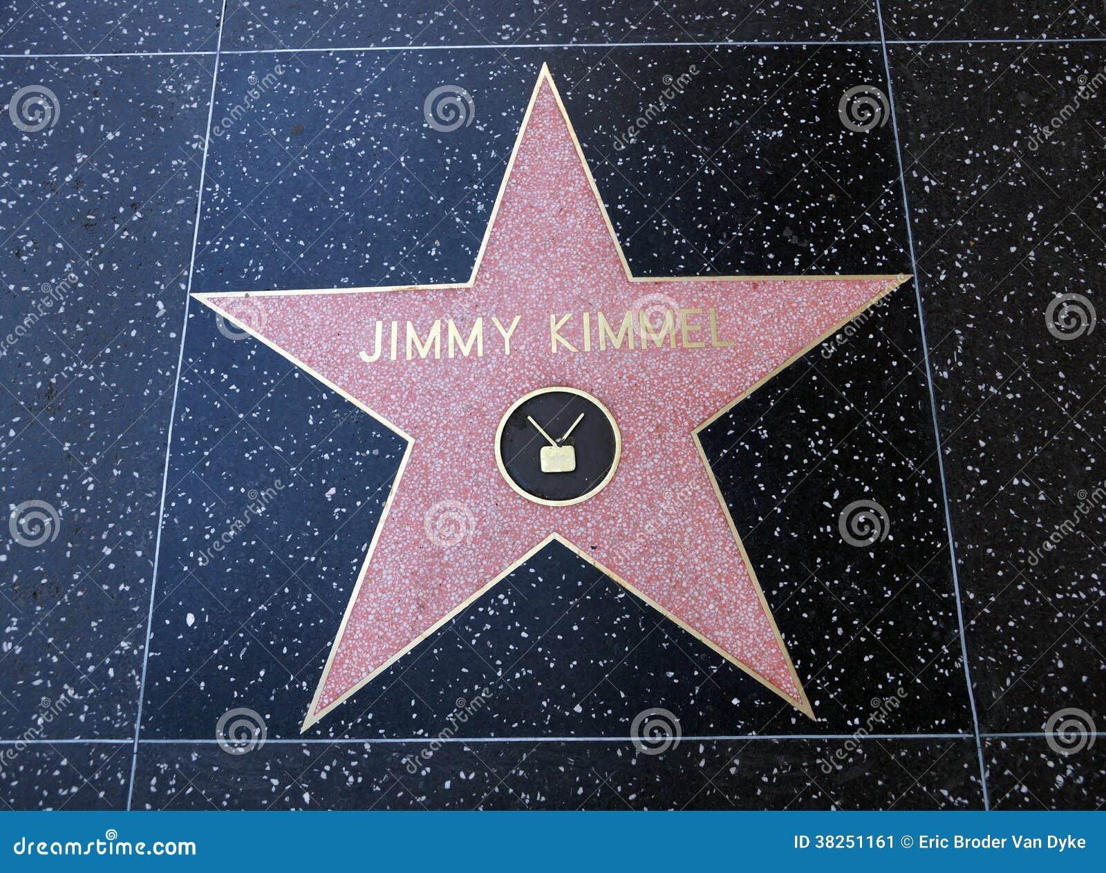 在好莱坞星光大道的吉米Kimmel星