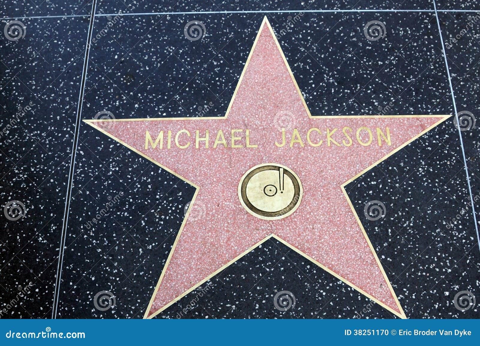 在好莱坞星光大道的迈克尔・杰克逊星