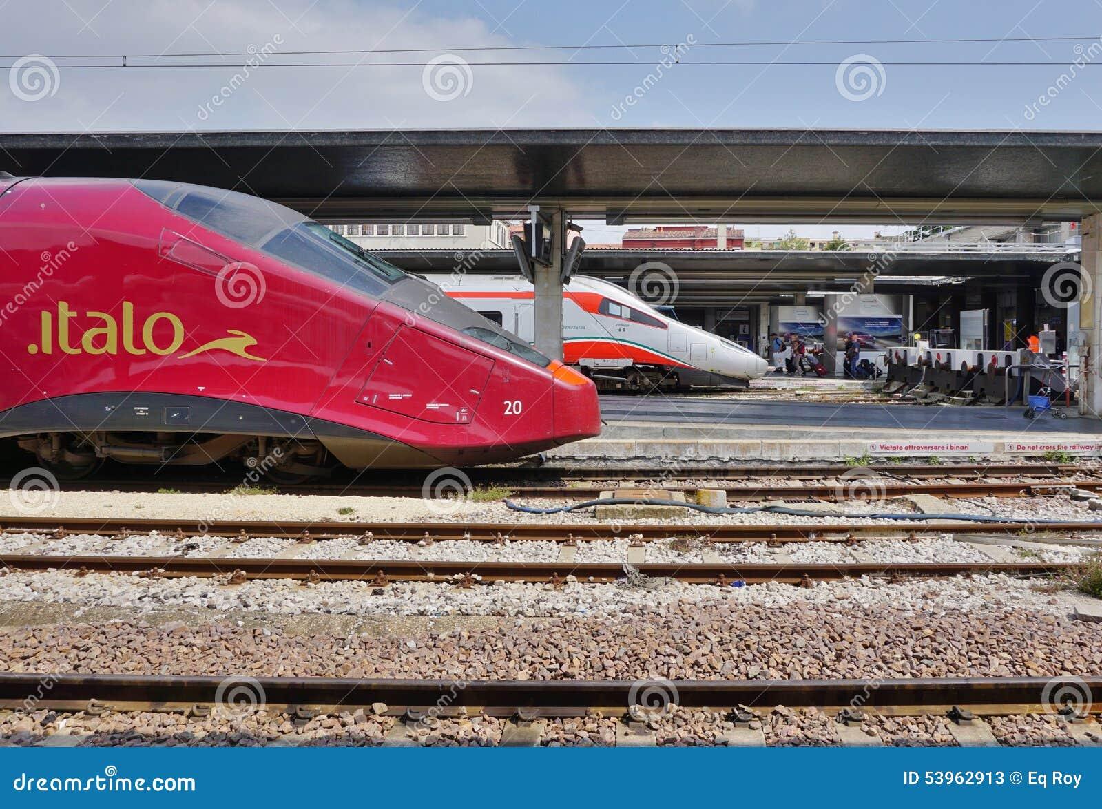 在威尼斯驻地的意大利高速火车