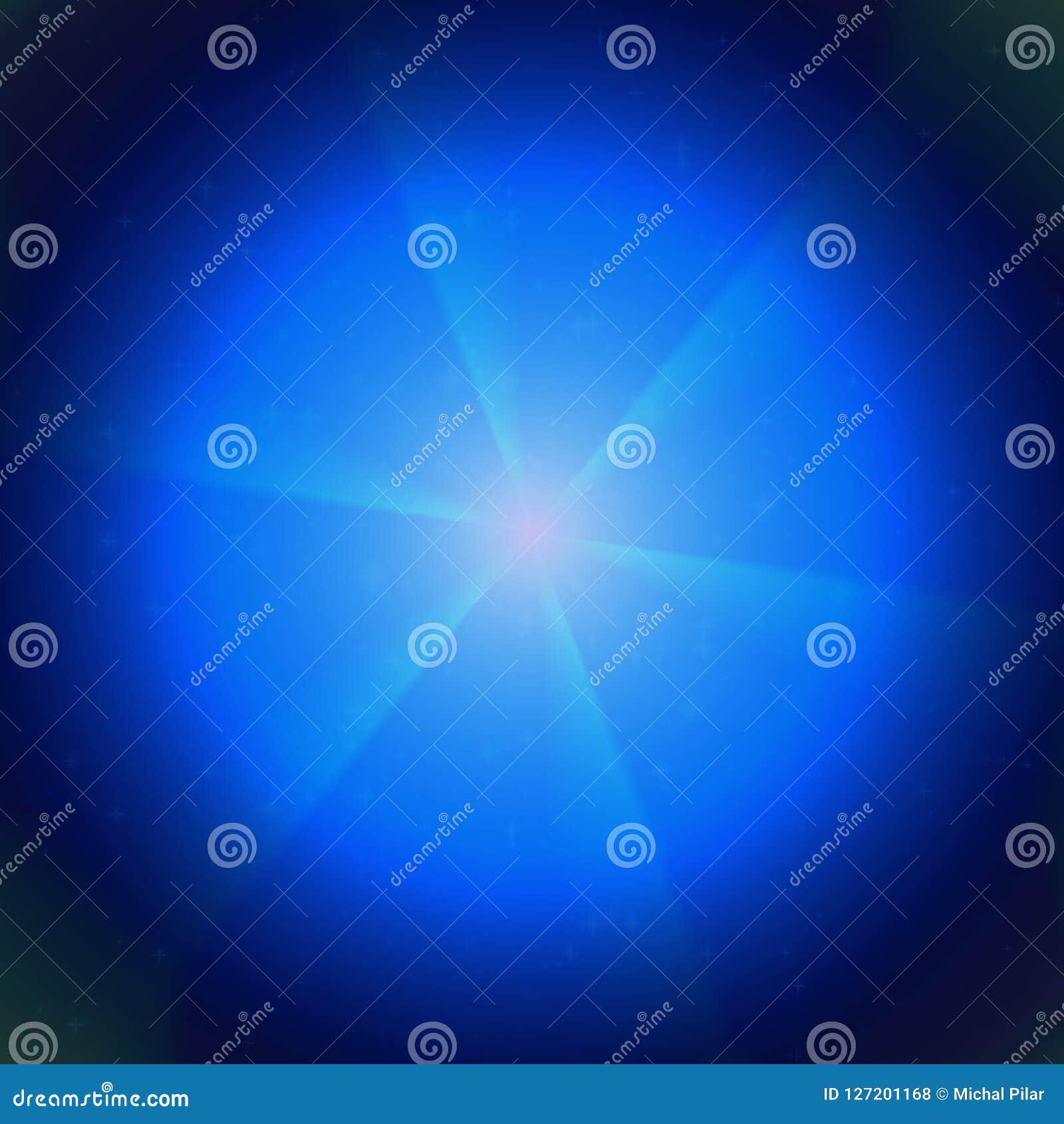 在宇宙纹理的蓝色焕发,浅兰在黑背景,美好的焕发在夜