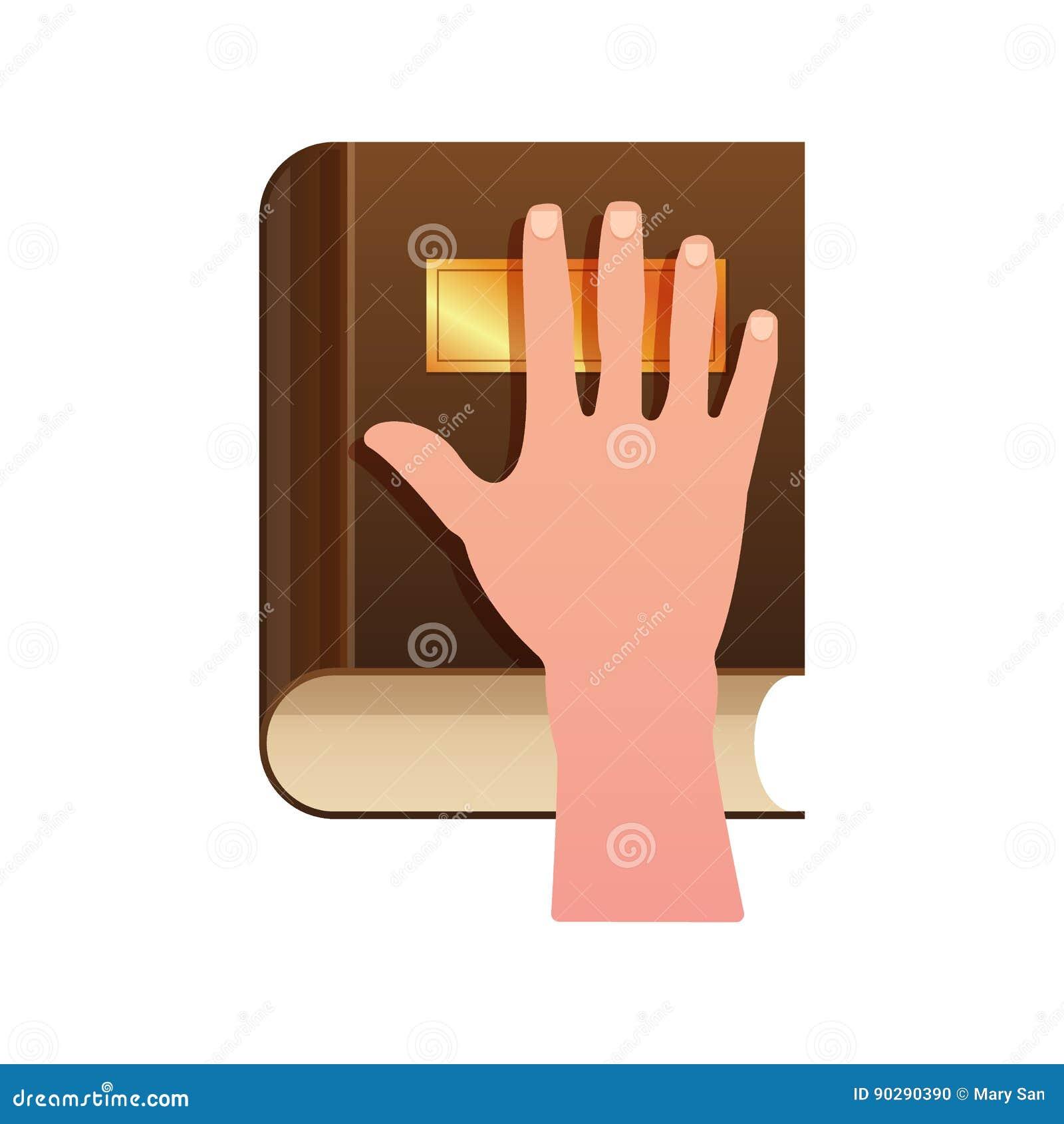 在宪法的手作为誓言概念象