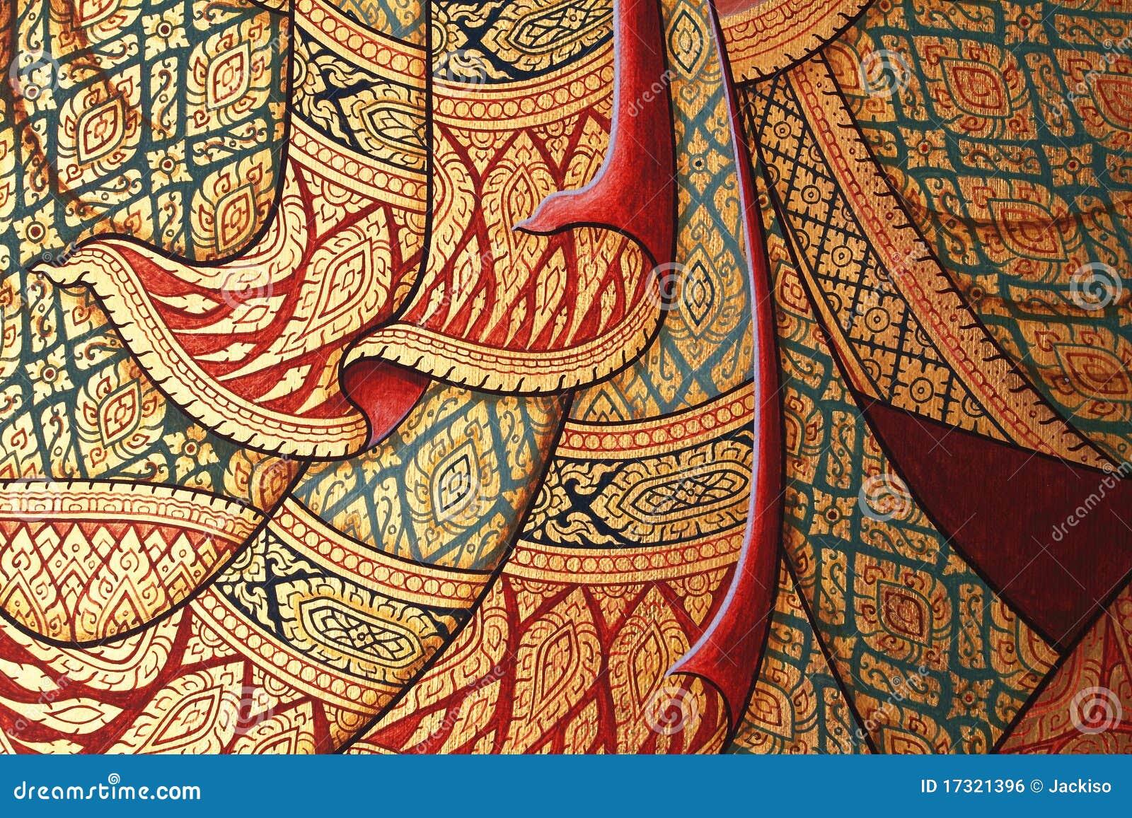 去泰国免筺(Y_在寺庙的泰国样式绘画 免版税库存图片 - 图片
