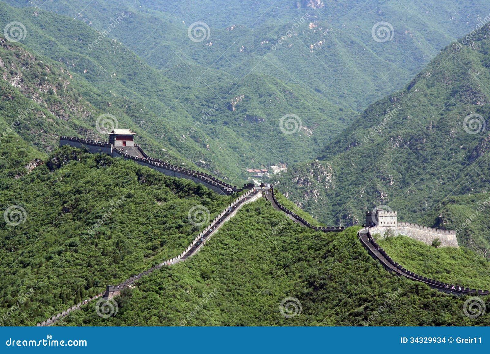 在居庸关的汉语长城