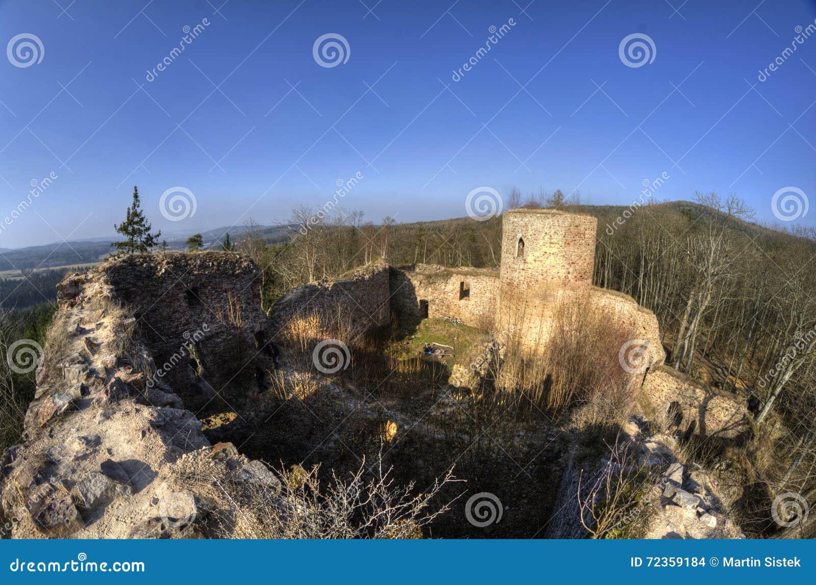 在山上面的老堡垒