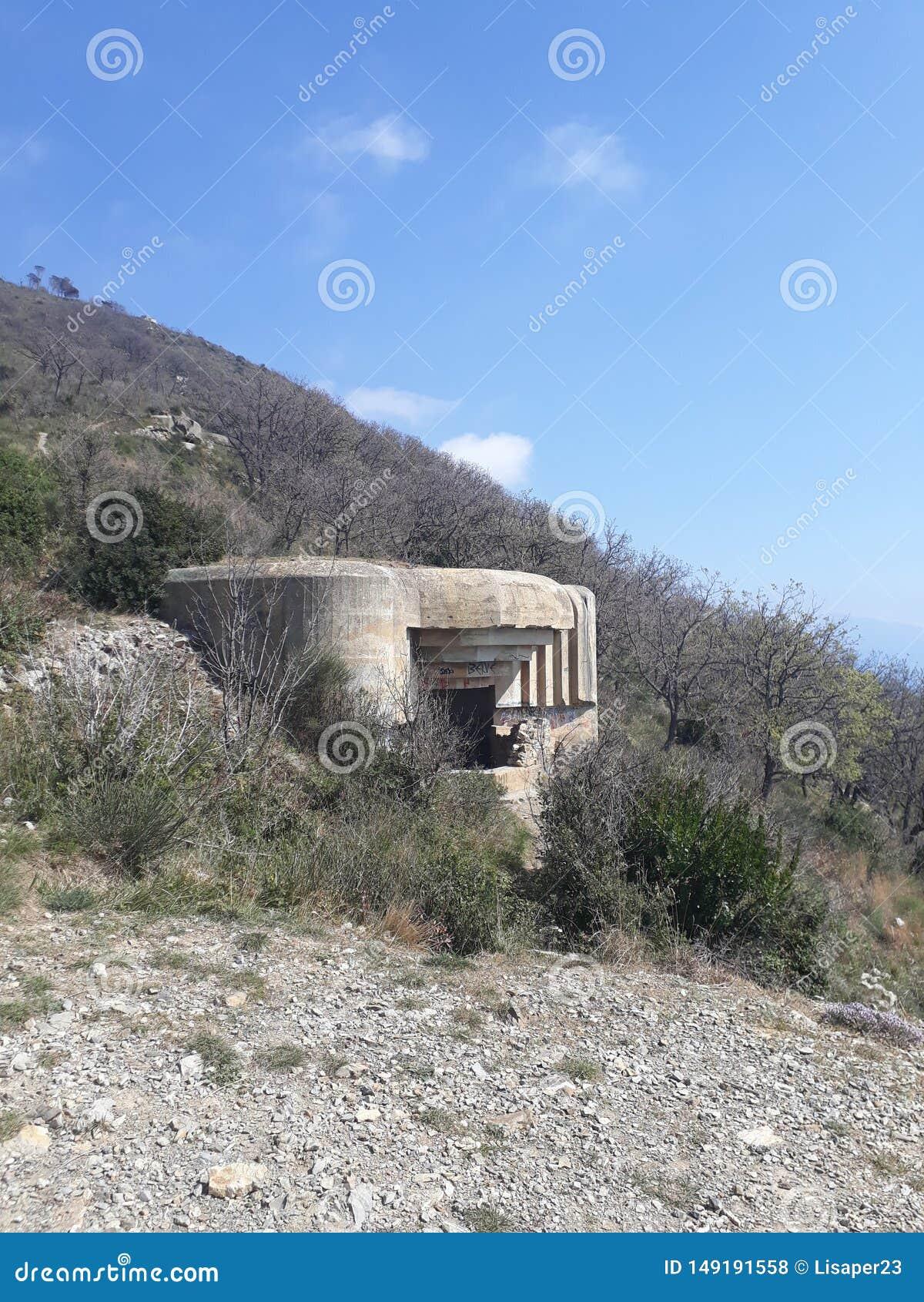 在山的第一个世界大战地堡