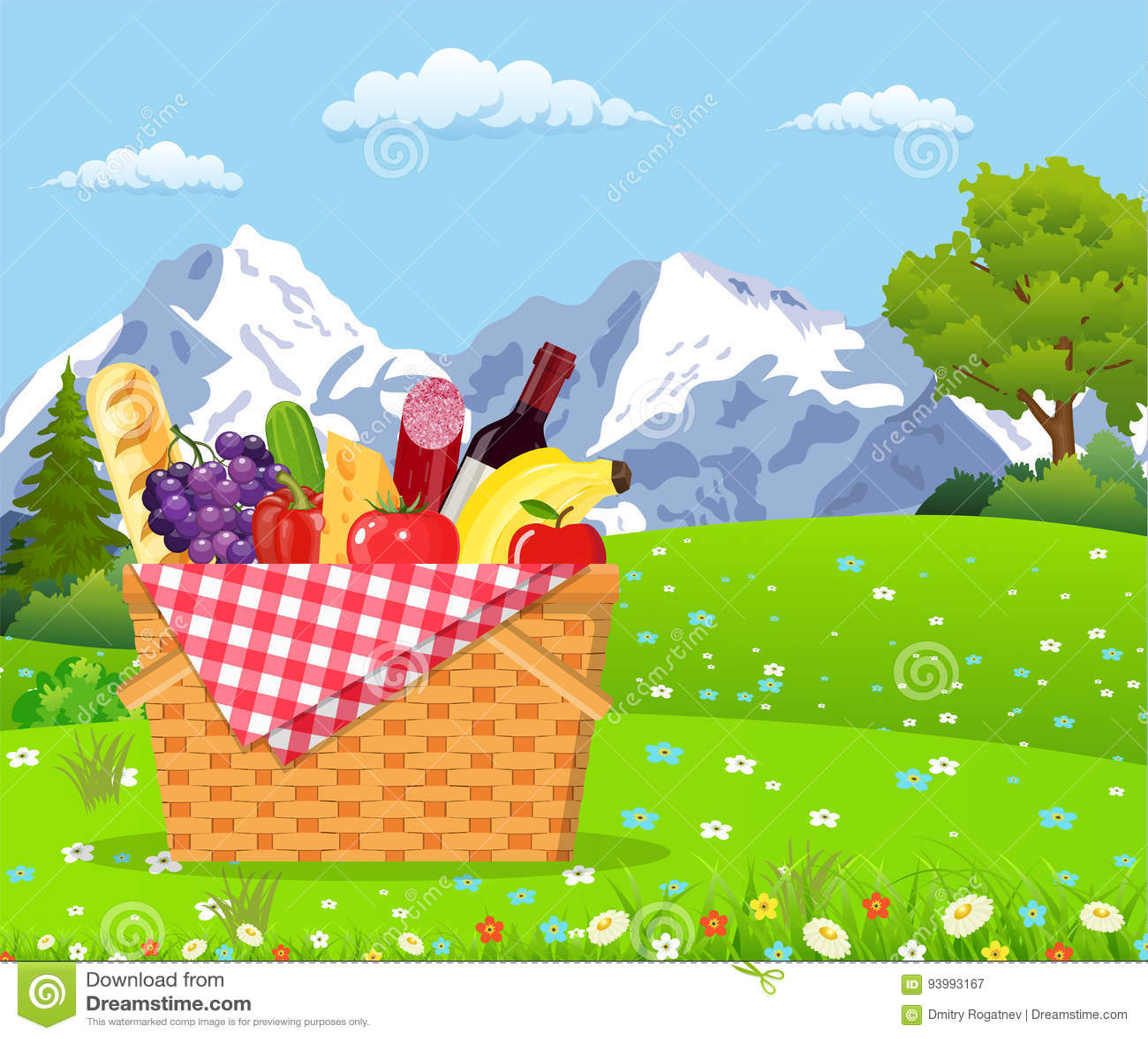 在山的野餐