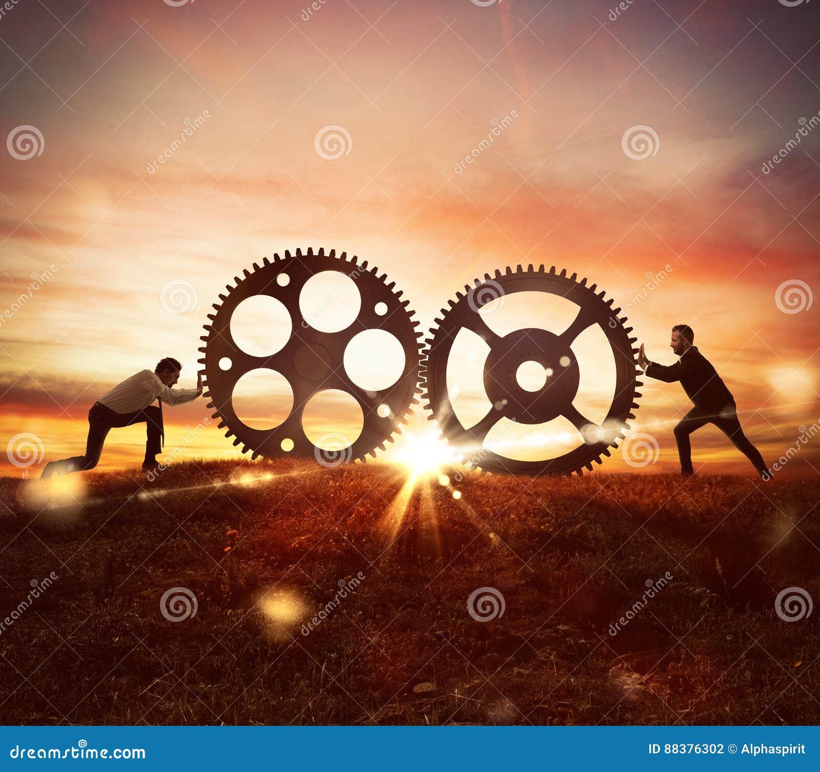 在工作概念的合作与齿轮机构