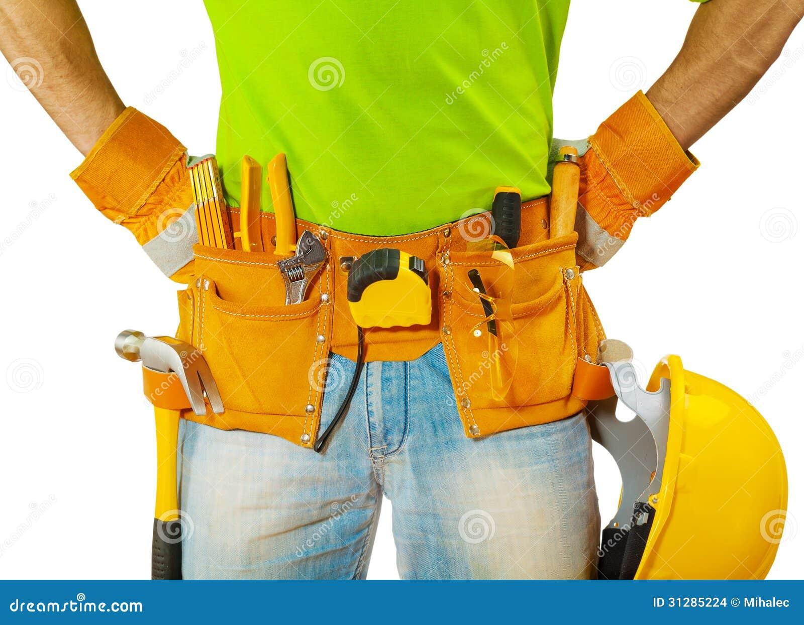 在工具的看法在承包商传送带