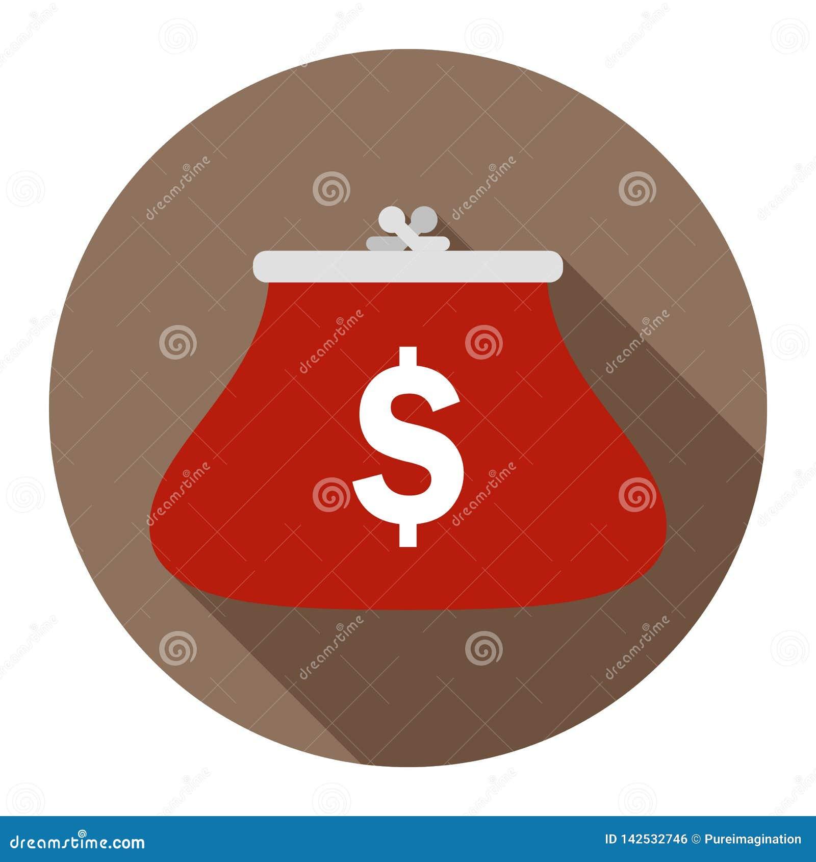 在巧克力背景的硬币钱包任何场合的