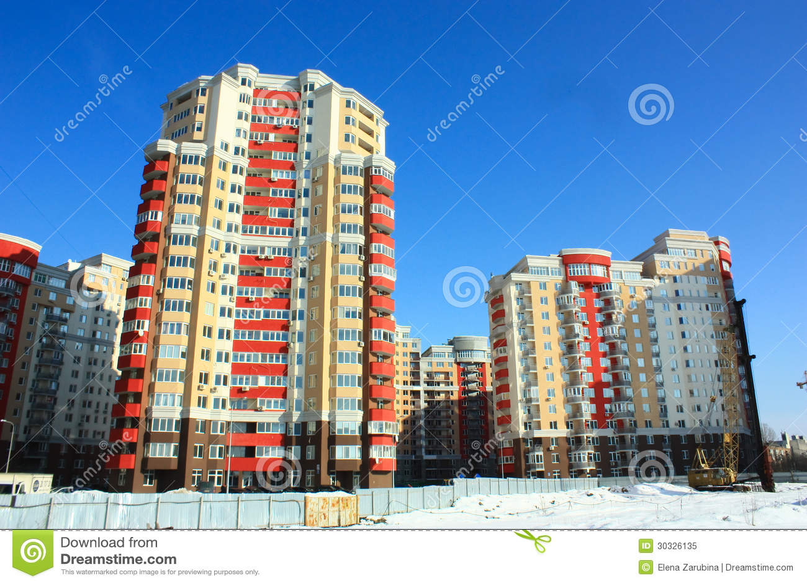 新的楼房建筑