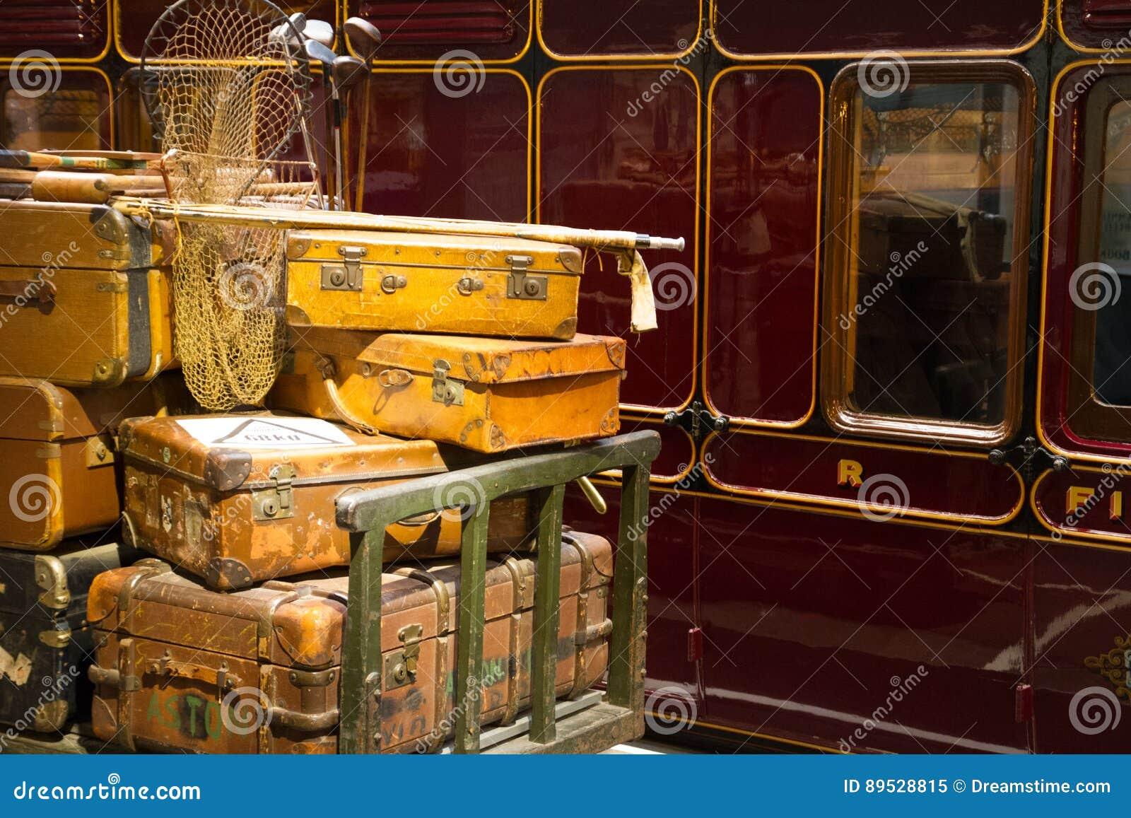 在平台的行李