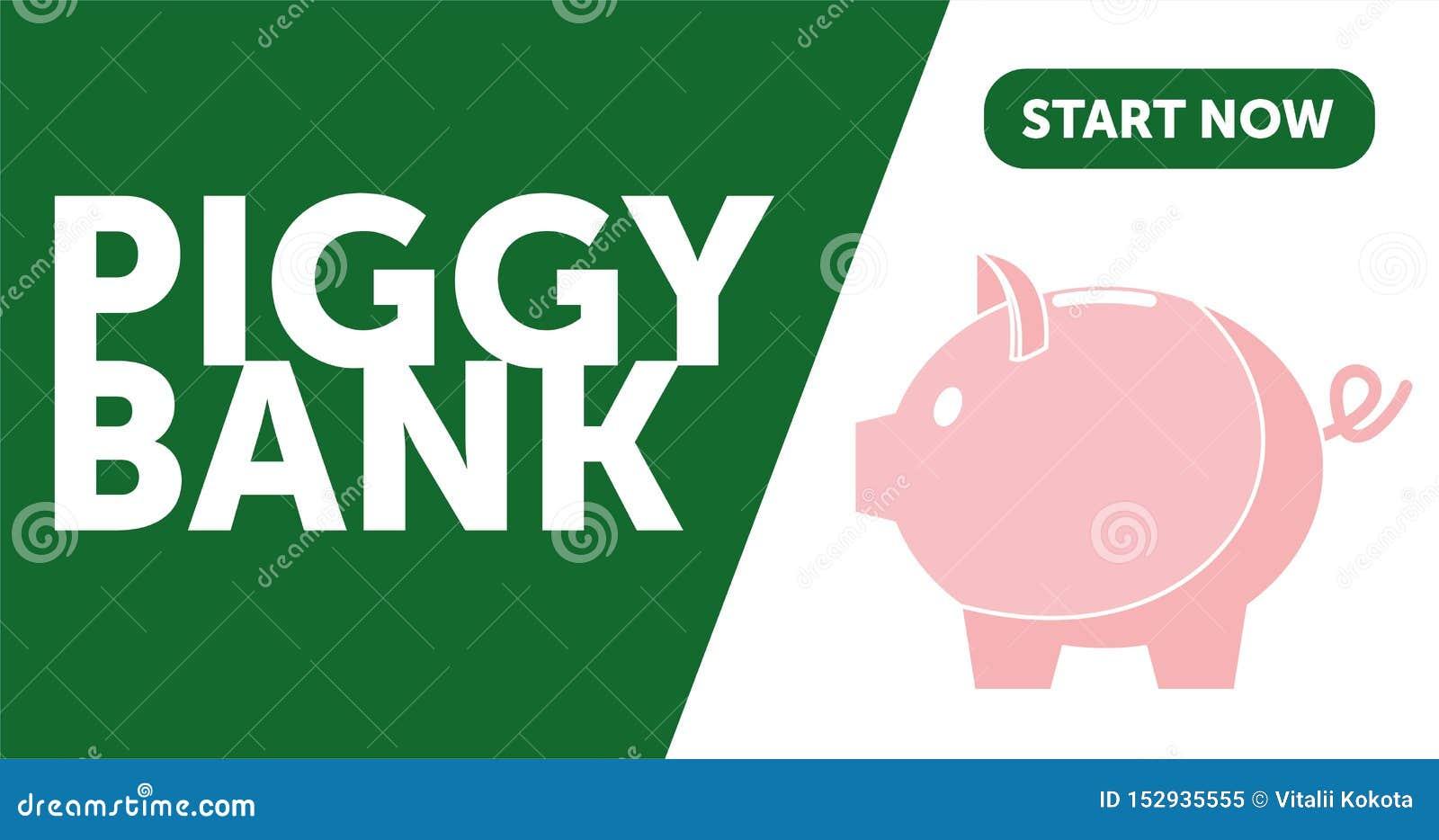 在平的线路业务的样式的存钱罐简单的传染媒介例证 o 设计存钱罐