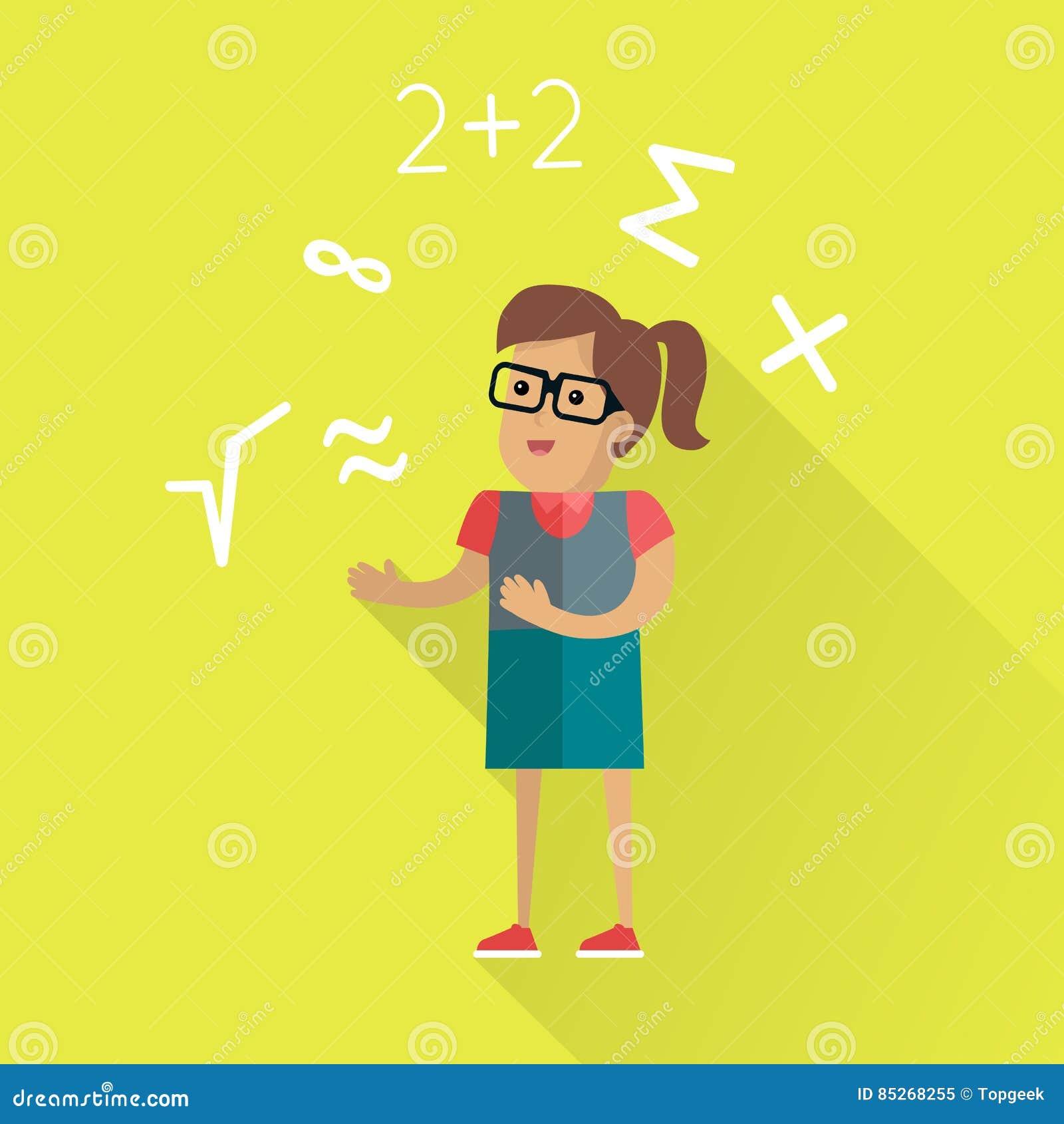 在平的设计的数学演算概念
