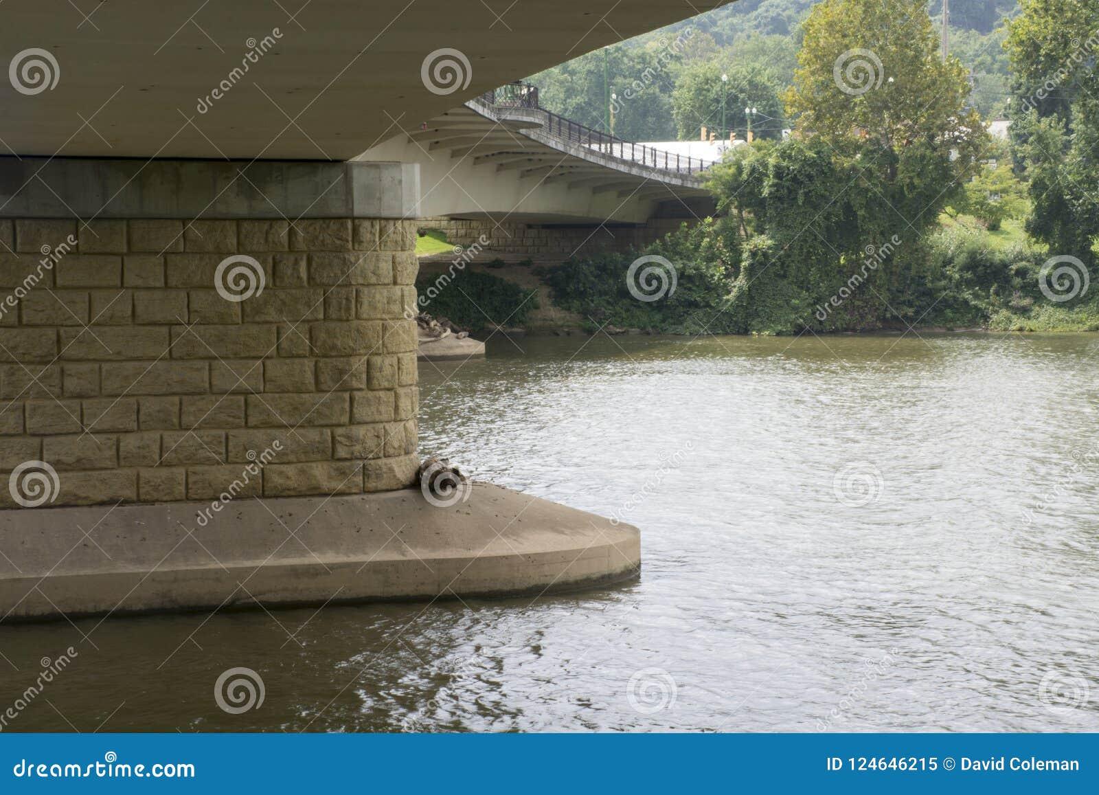 在底下桥梁