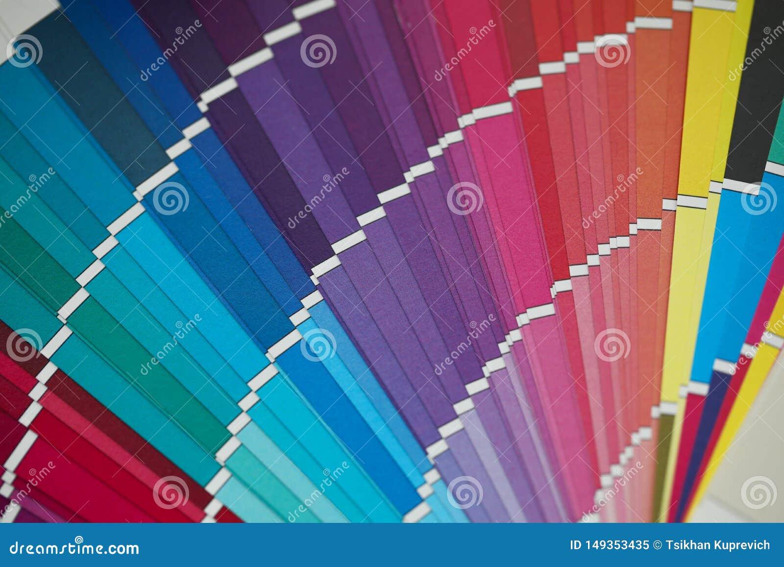 在异常的角度图的被打开的多色半圆样品调色板
