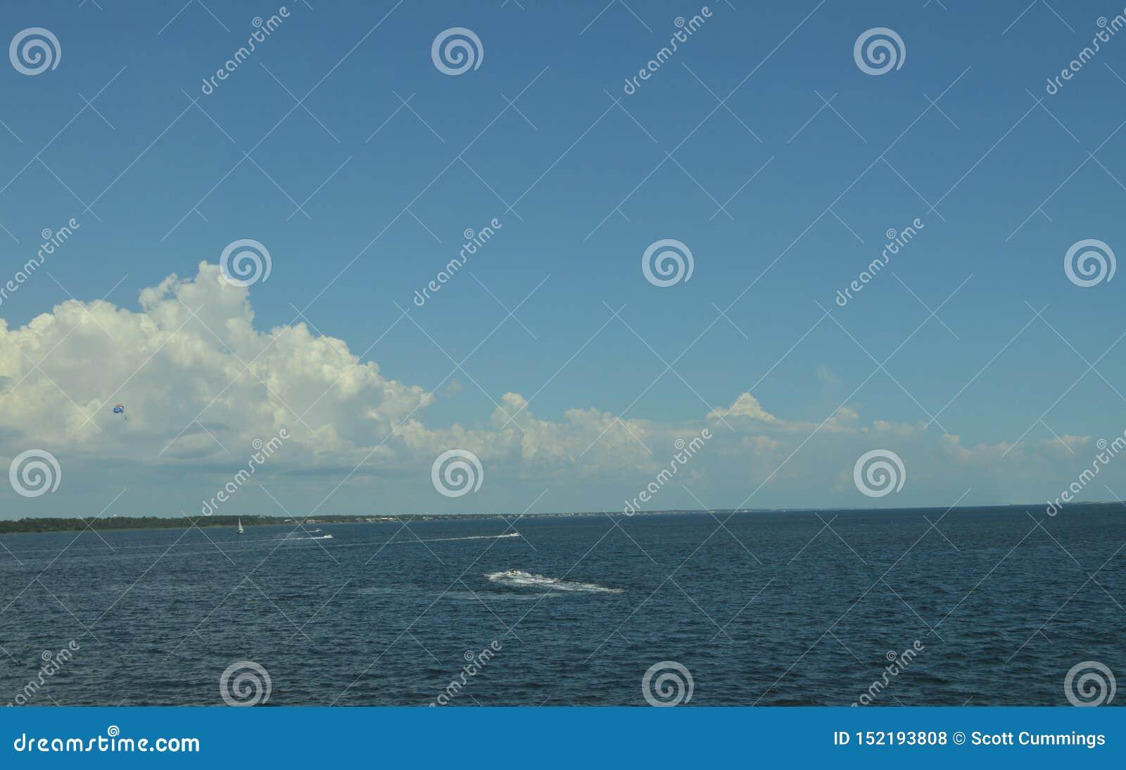 在彭萨科拉海湾的夏天Watersports