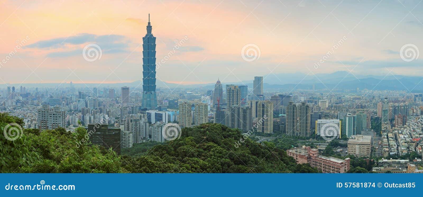 在微明的台北,台湾地平线