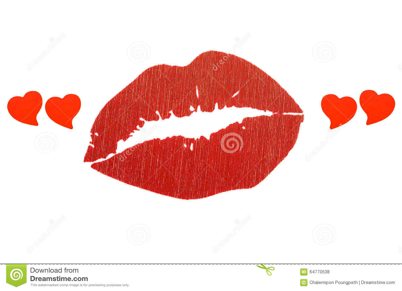 在心脏行情的红色嘴唇