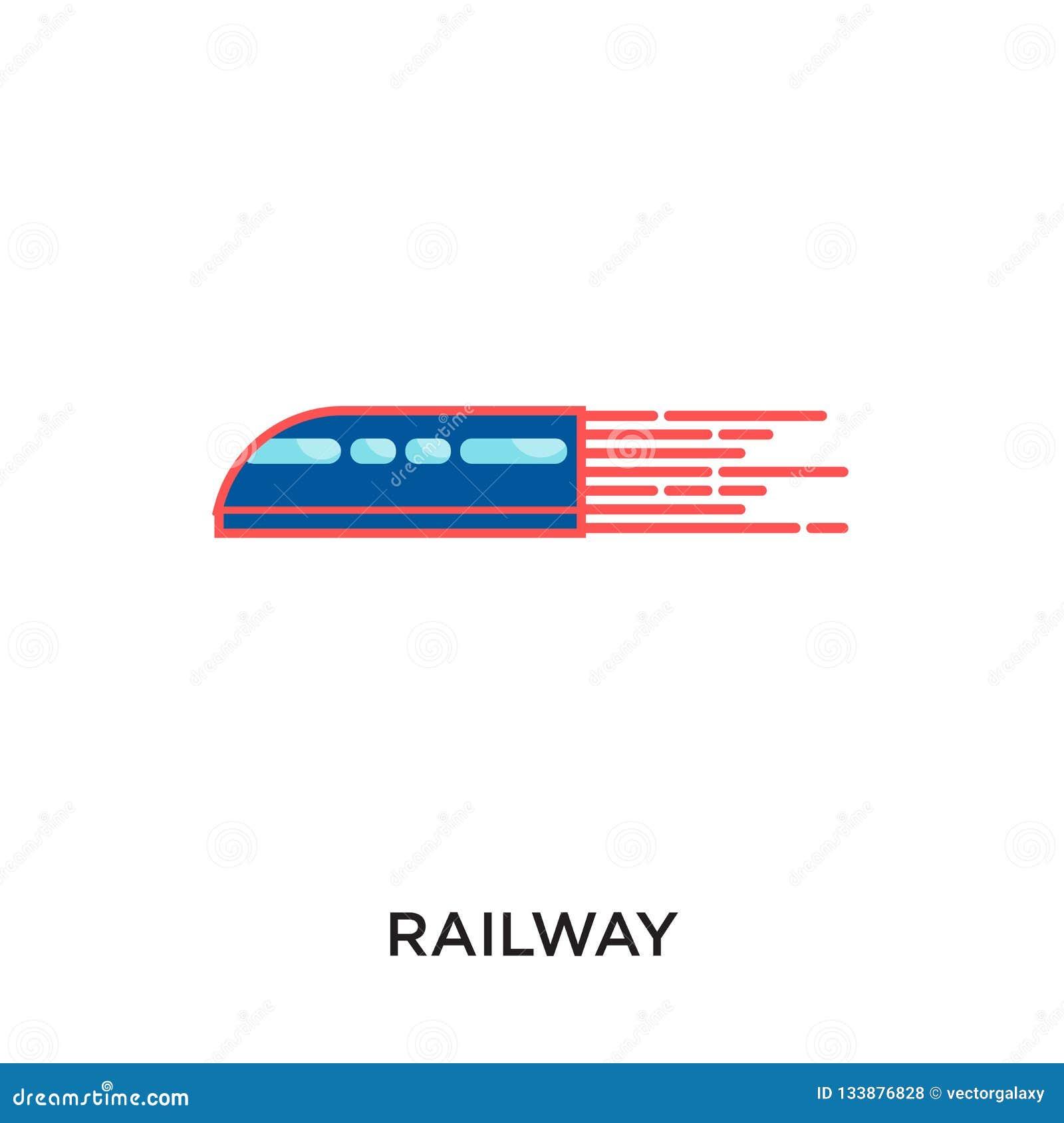在您的网的白色背景隔绝的铁路商标,流动a